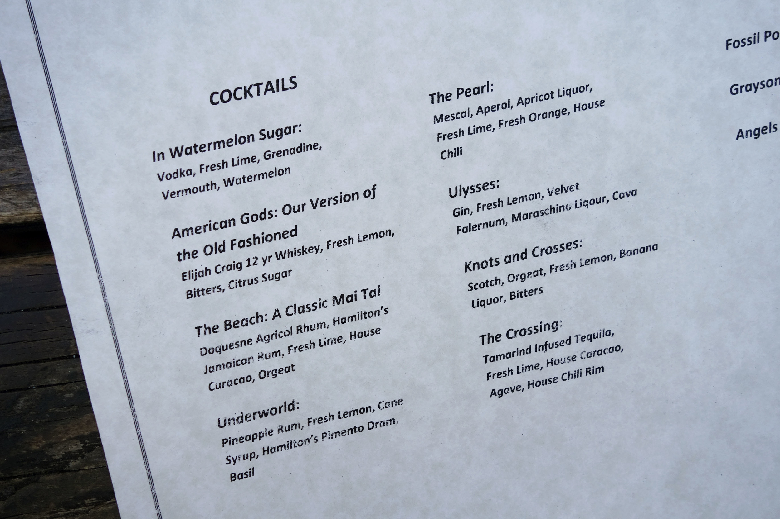 New cocktails launched