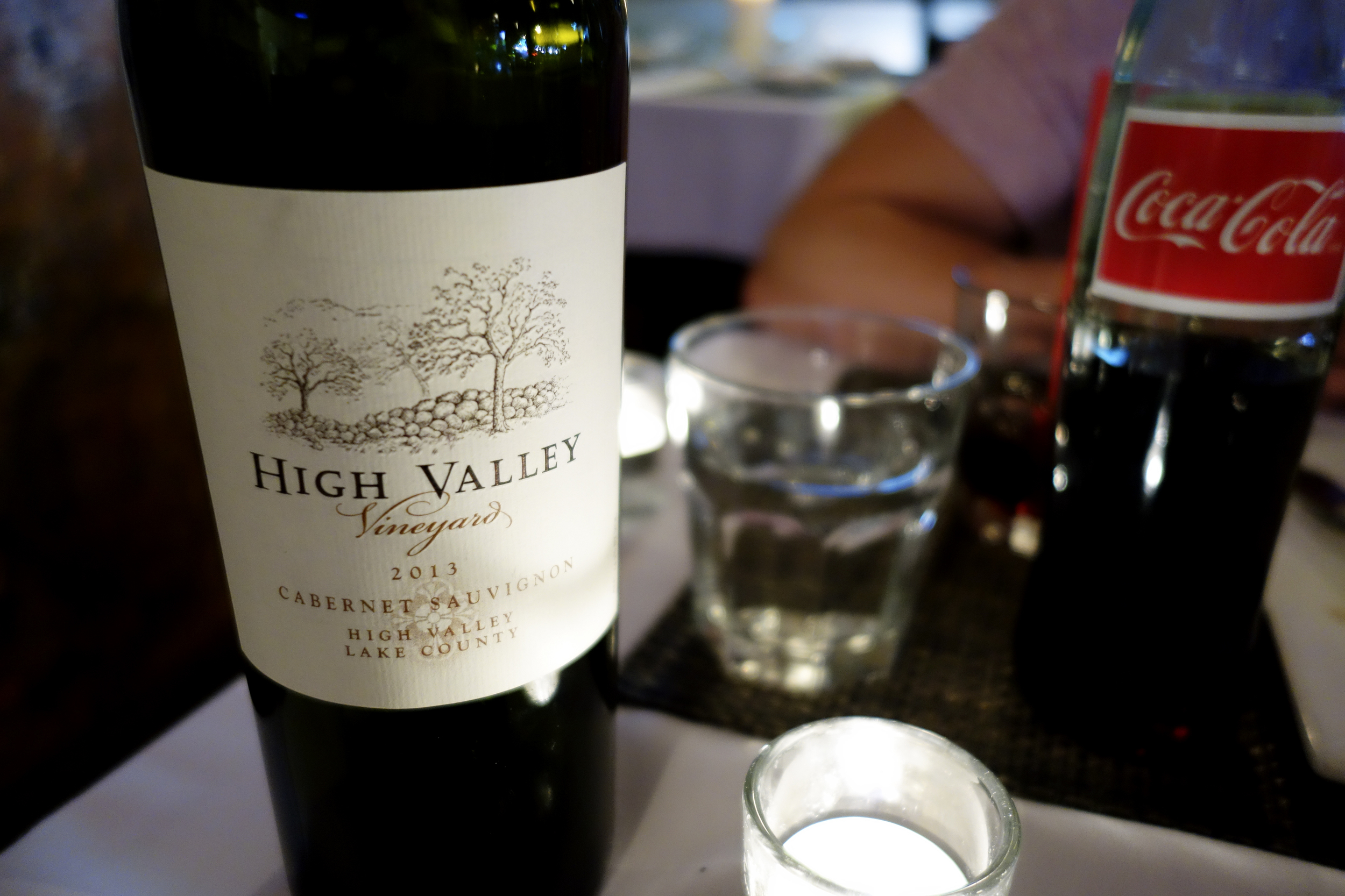 High Valley Vineyard 2013 Cabernet Sauvignon - Excellent red. Full bodied with a smooth finish.