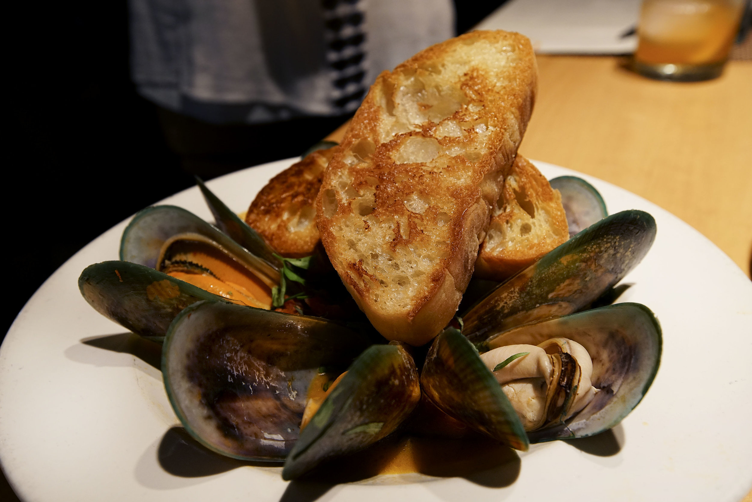 New Zealand Green Lip Mussel Pan Roast