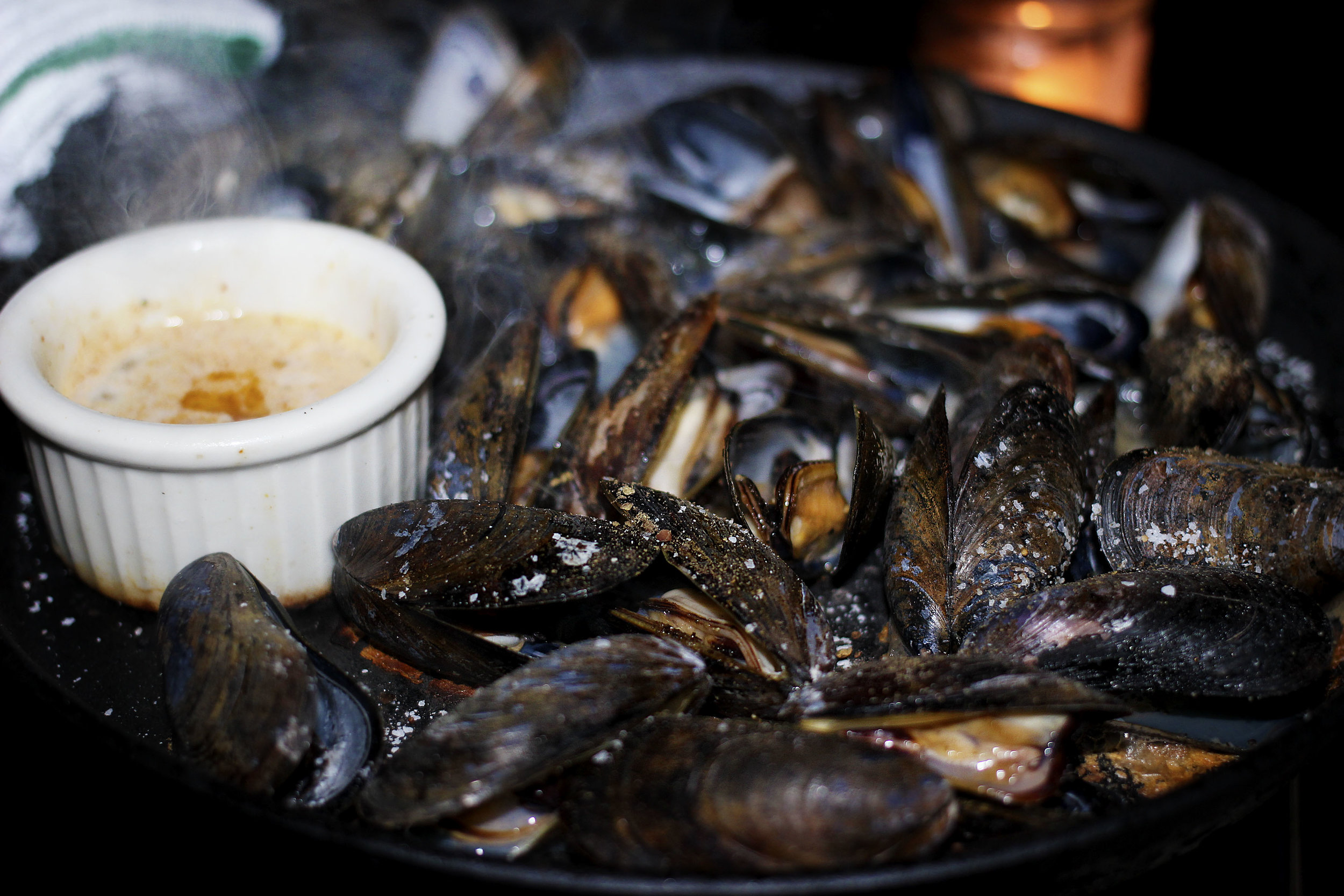 New Item - Iron Skillet Roasted Mussels