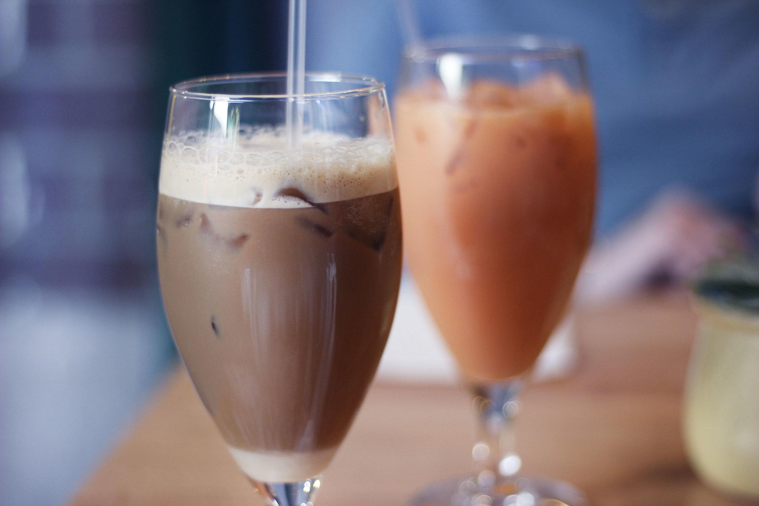 Iced Coffee and Thai Tea