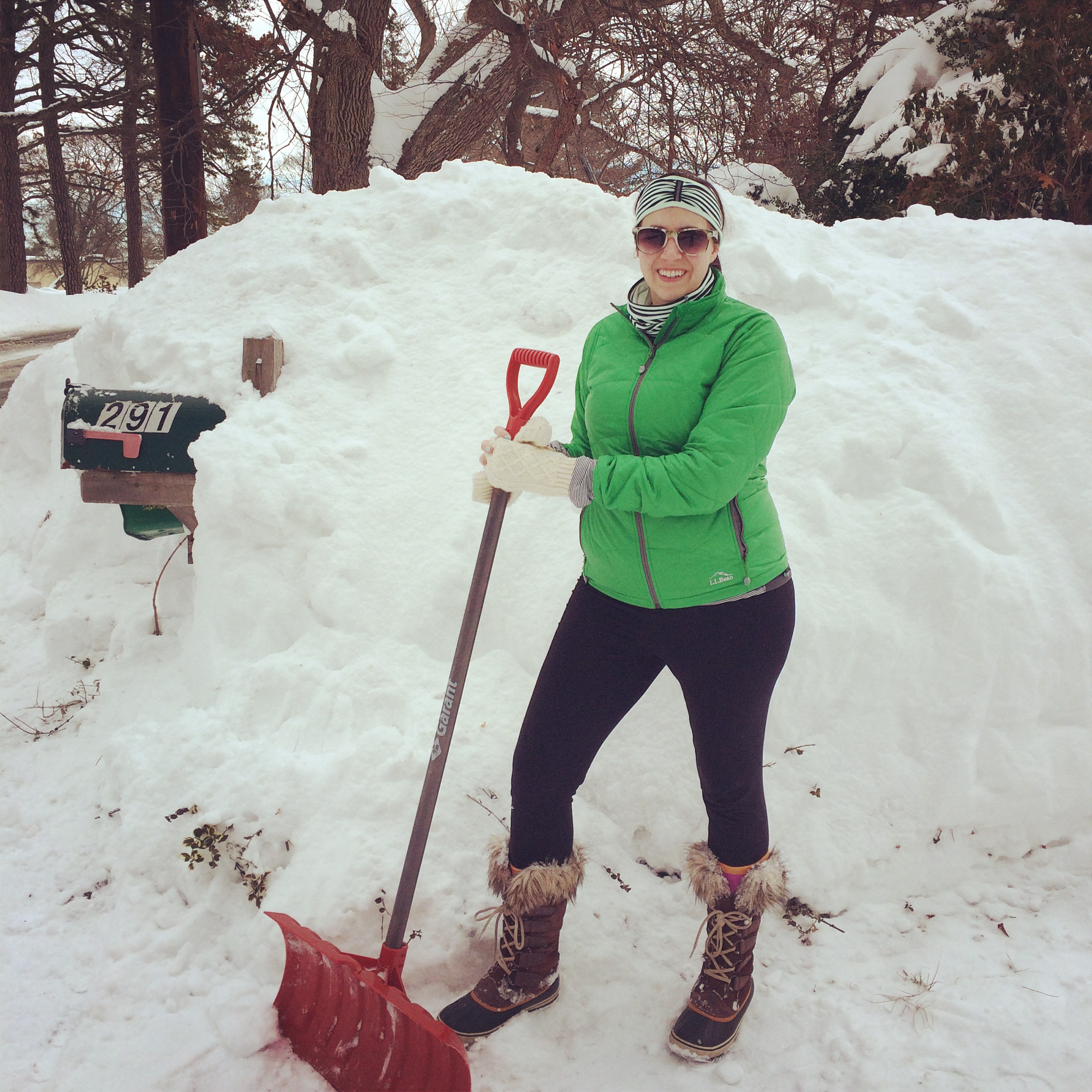 Shoveling after Blizzard Juno 2015