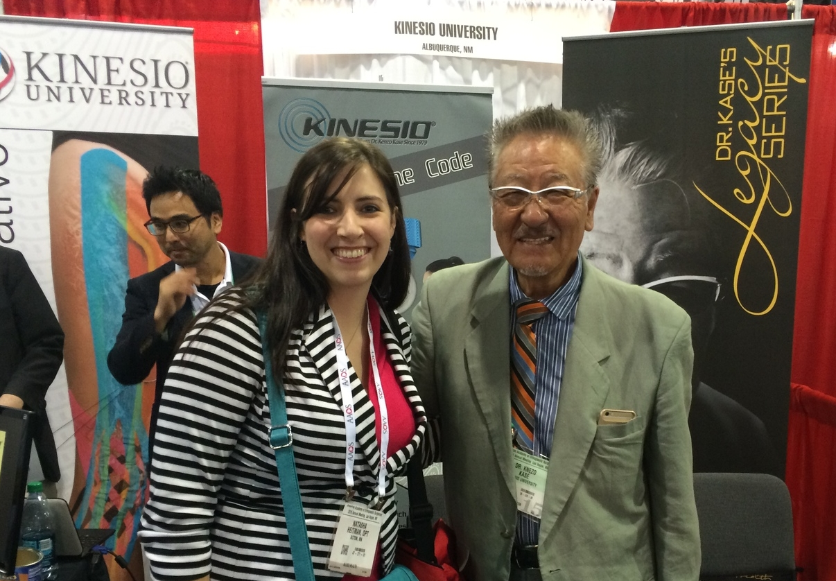 For those who use Kinesio tape, I met the inventor Dr. Kenzo Kase.