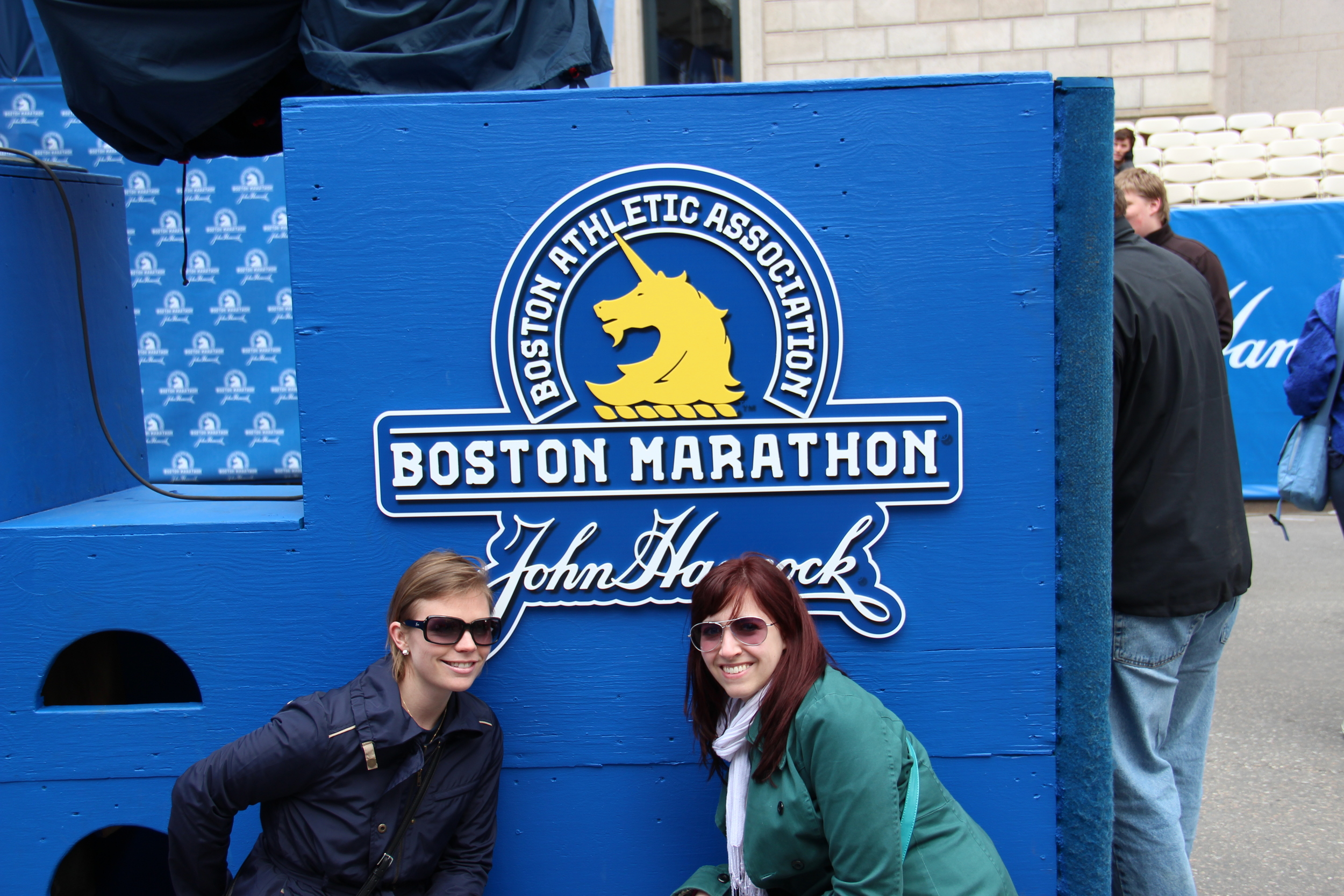 My super good friend Anne Schomber, OTR/L is on the left with me on the right. This picture was taken on April 14, 2013 at the Finish line for the Boston Marathon.