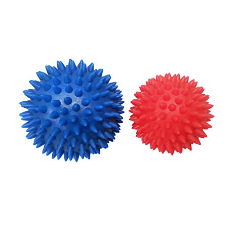 Spiky Massage Ball Set - Release tension, stimulate nerves, relax muscles. Great for plantar fascitis, addressing trigger points, and self massaging soles of your feet.
