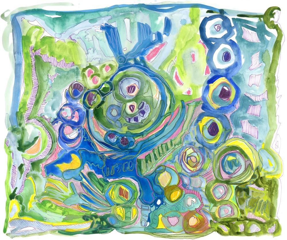 Beach, Beach Glass Series; By, Maureen Claffy
