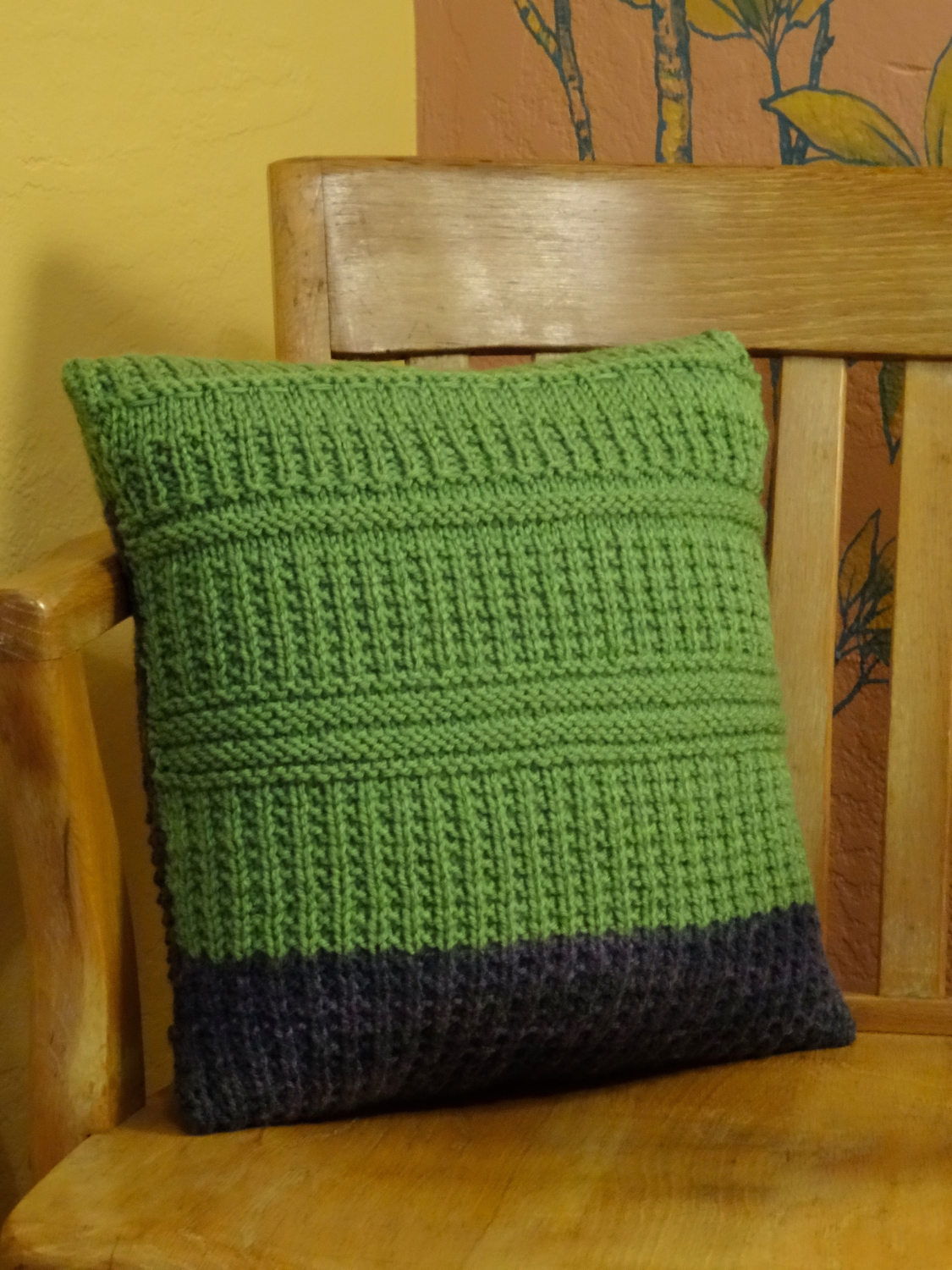 Knitted Pillow by Debra S. Walling