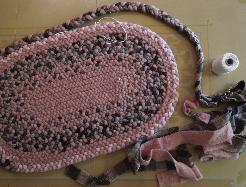 Braided Rug from wool by Debra S. Walling