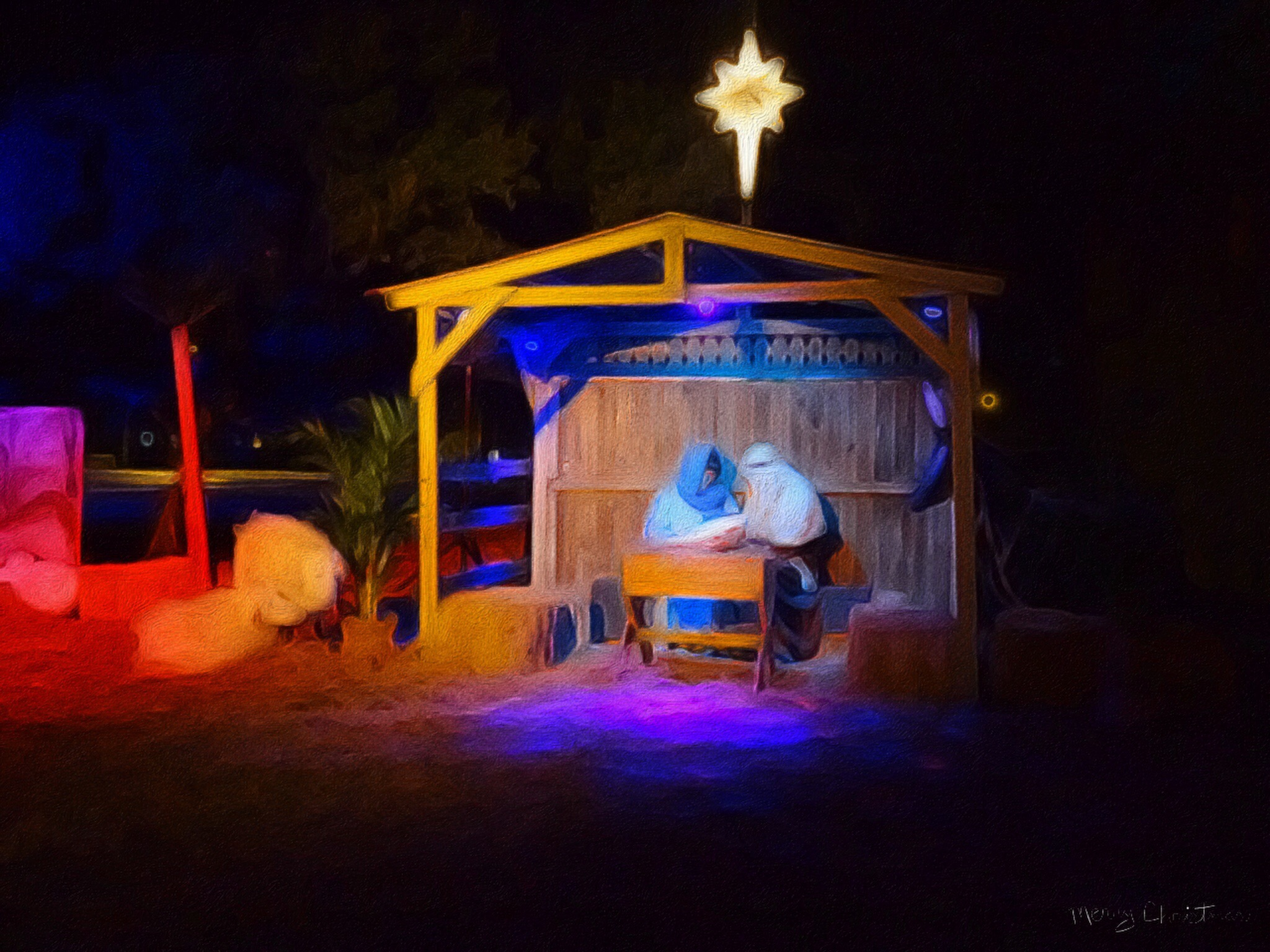 Photography by Debra Smelik Walling Scene from a Live Nativity at St. Pete Community Church