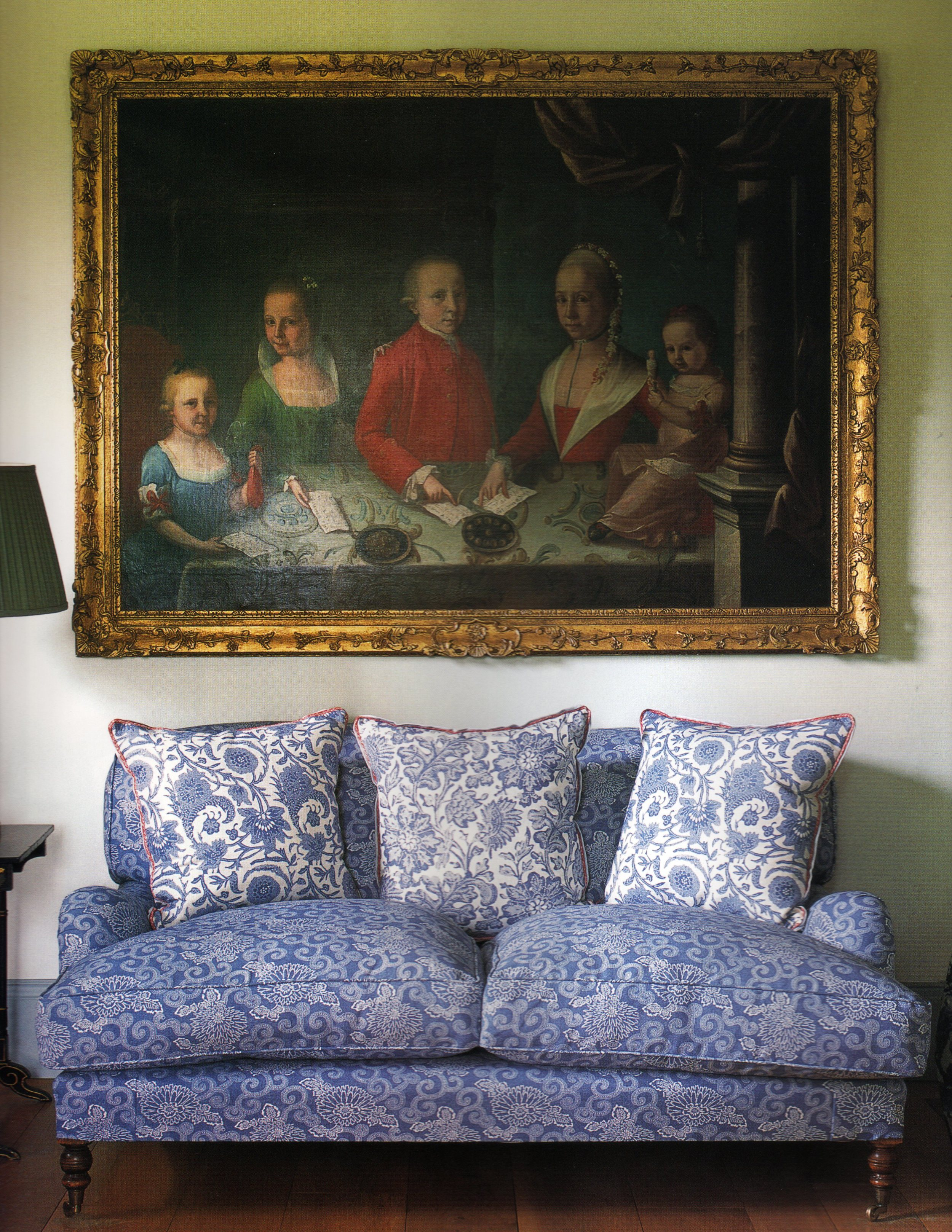 Wabi-Sabi (sofa), Injigo (left & right pillows), Matisse (center pillow)