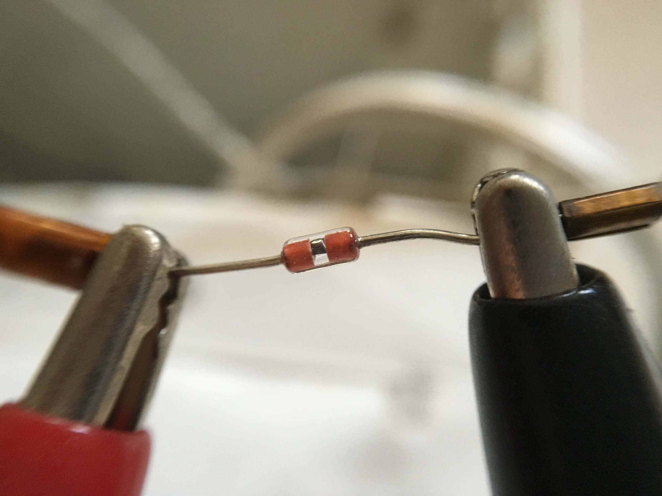 Thermistor, close-up