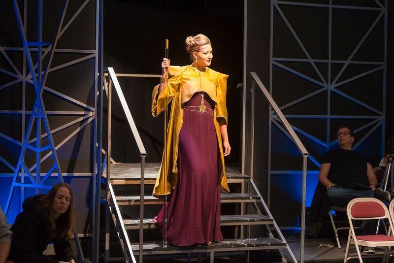 Madison McKenzie Scott as Volumnia in Coriolanus. UC-Irvine, 2017. Photo by Paul Kennedy.