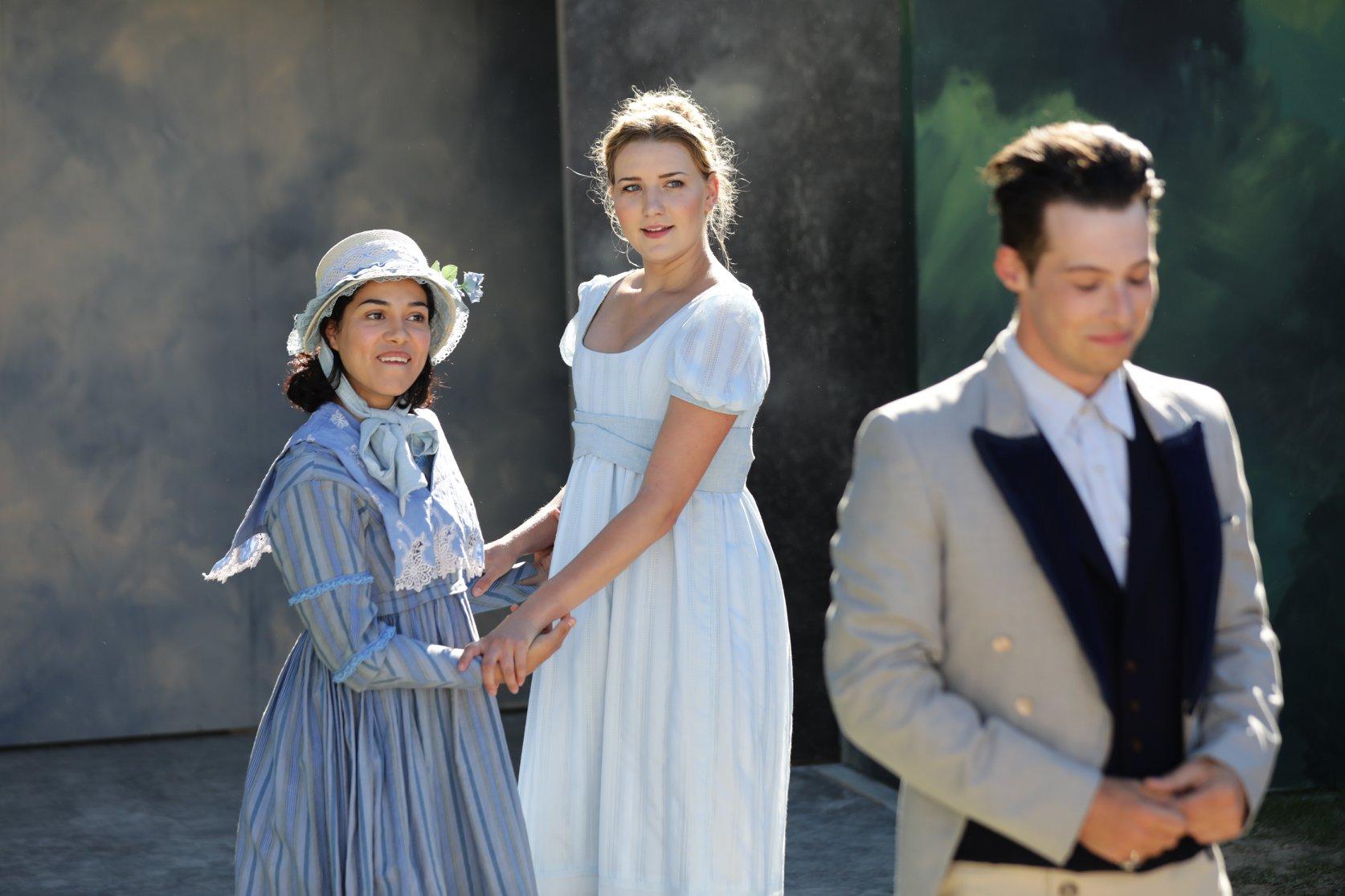 Madison McKenzie Scott as Elinor Dashwood in Sense & Sensibility at Island Shakespeare Festival. Photo by Michael Stadler
