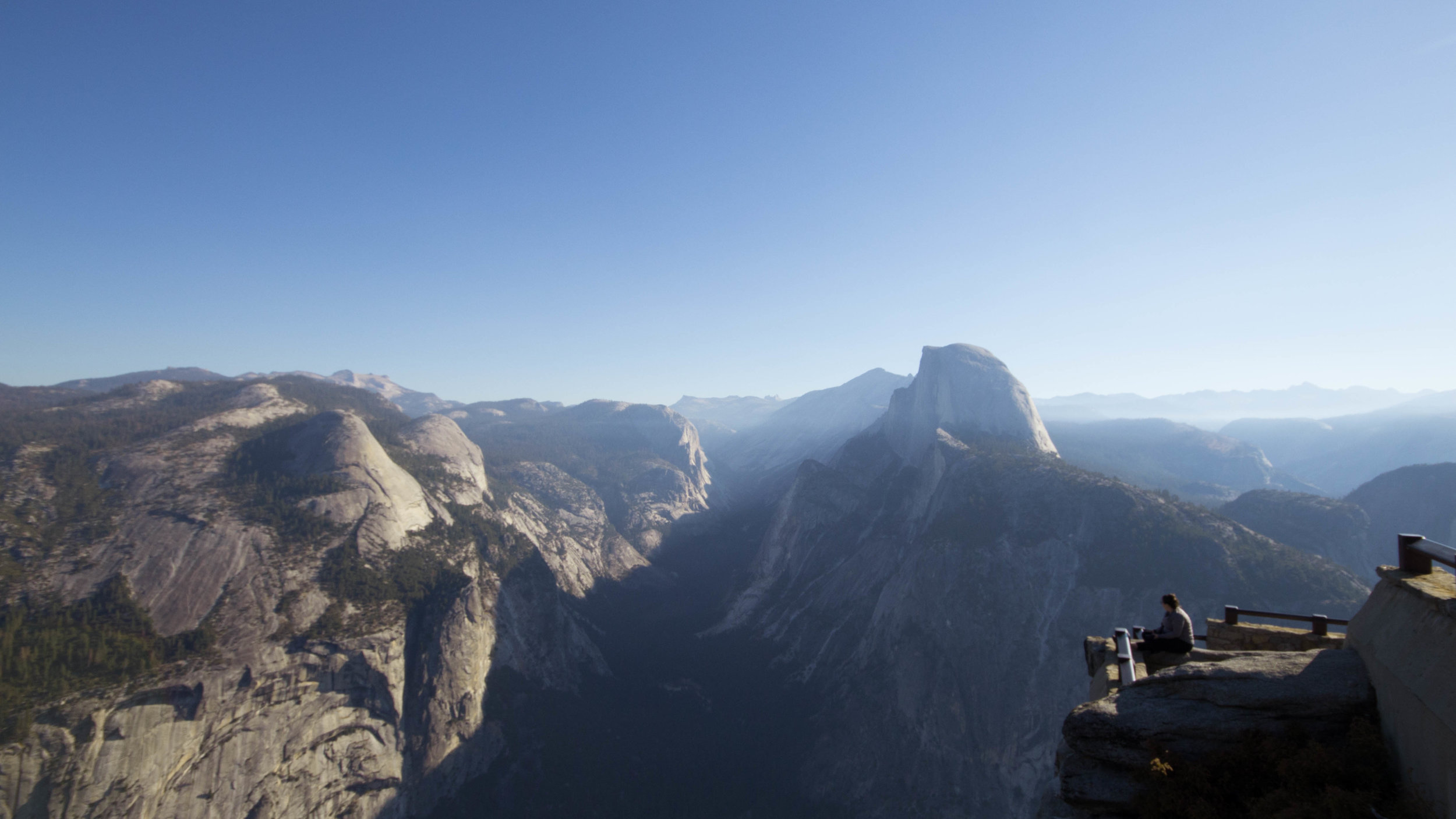 Victoria Ramos looking out through the valley at Yosemite National Park.