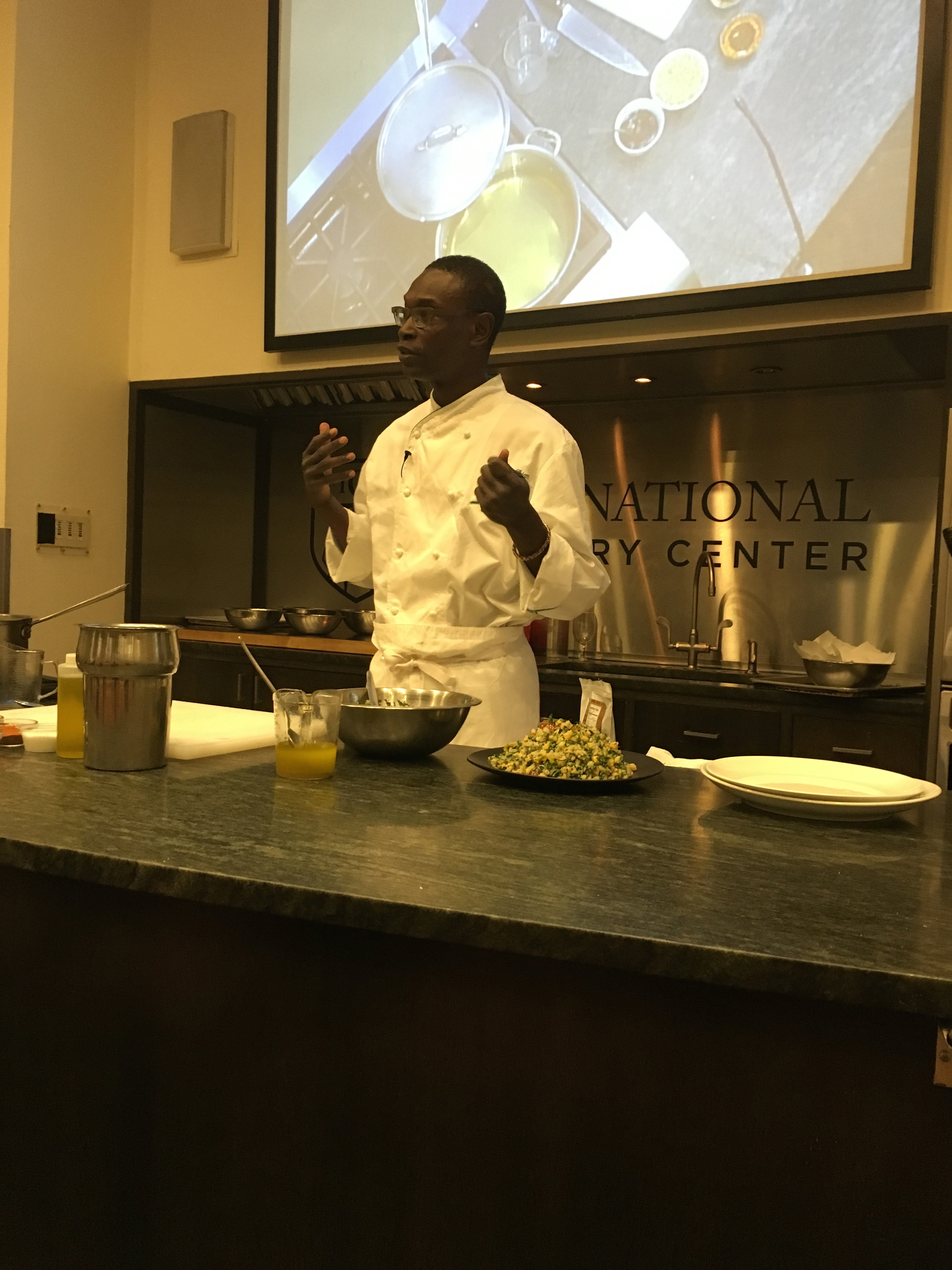 Cooking demo at International Culinary Center (ICC)