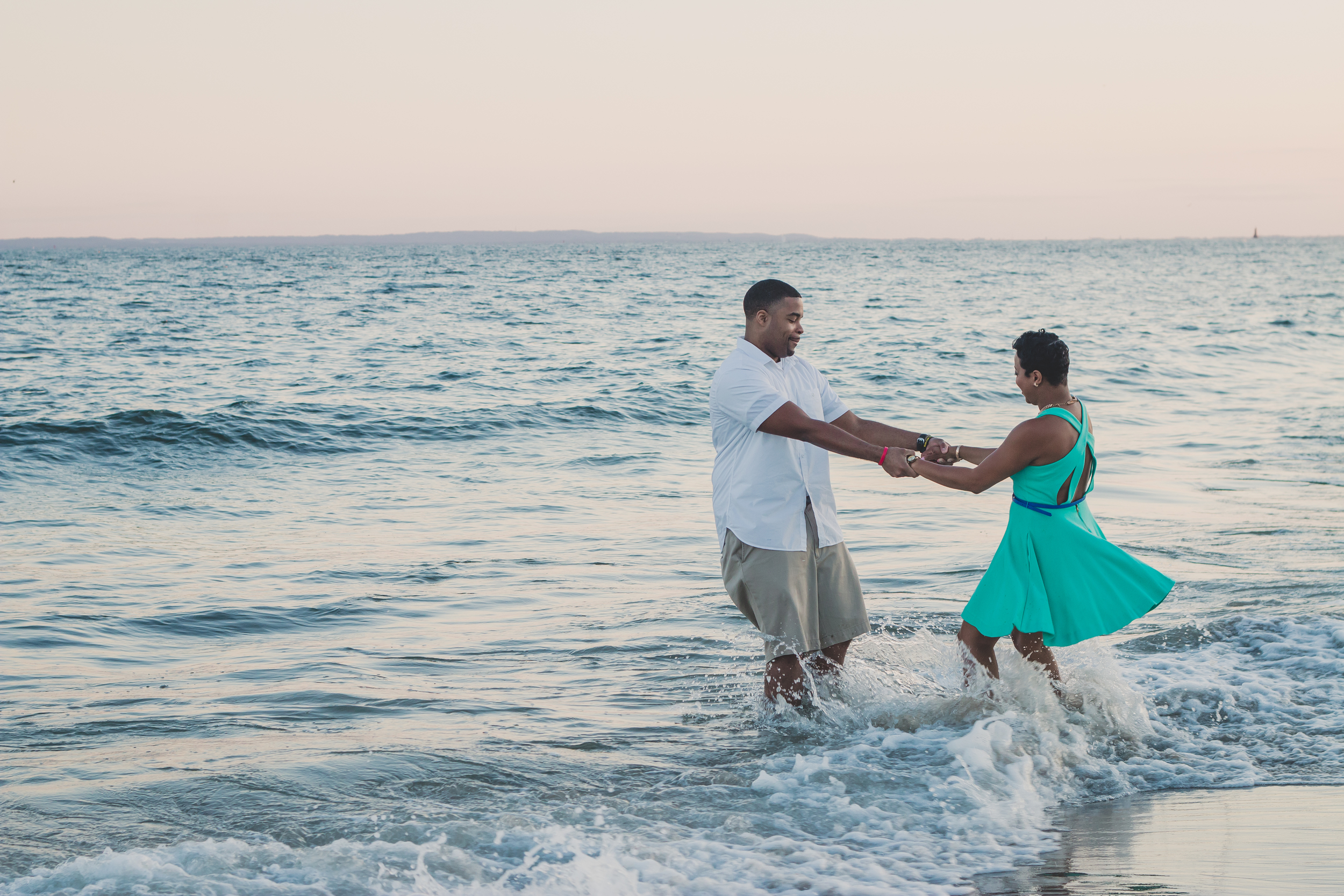 dancing around in the water beach nyc photography