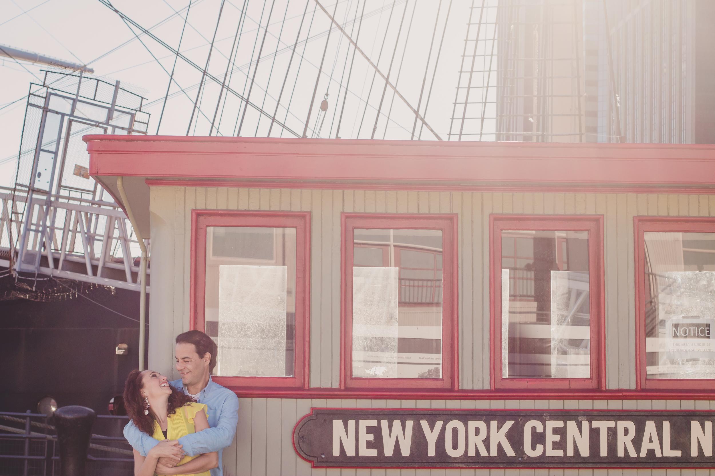 New York Central Train couple photos