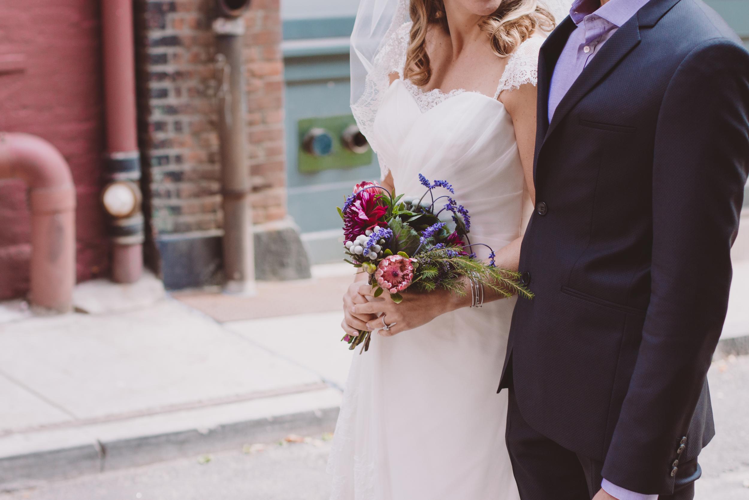 bride and groom tribeca nyc