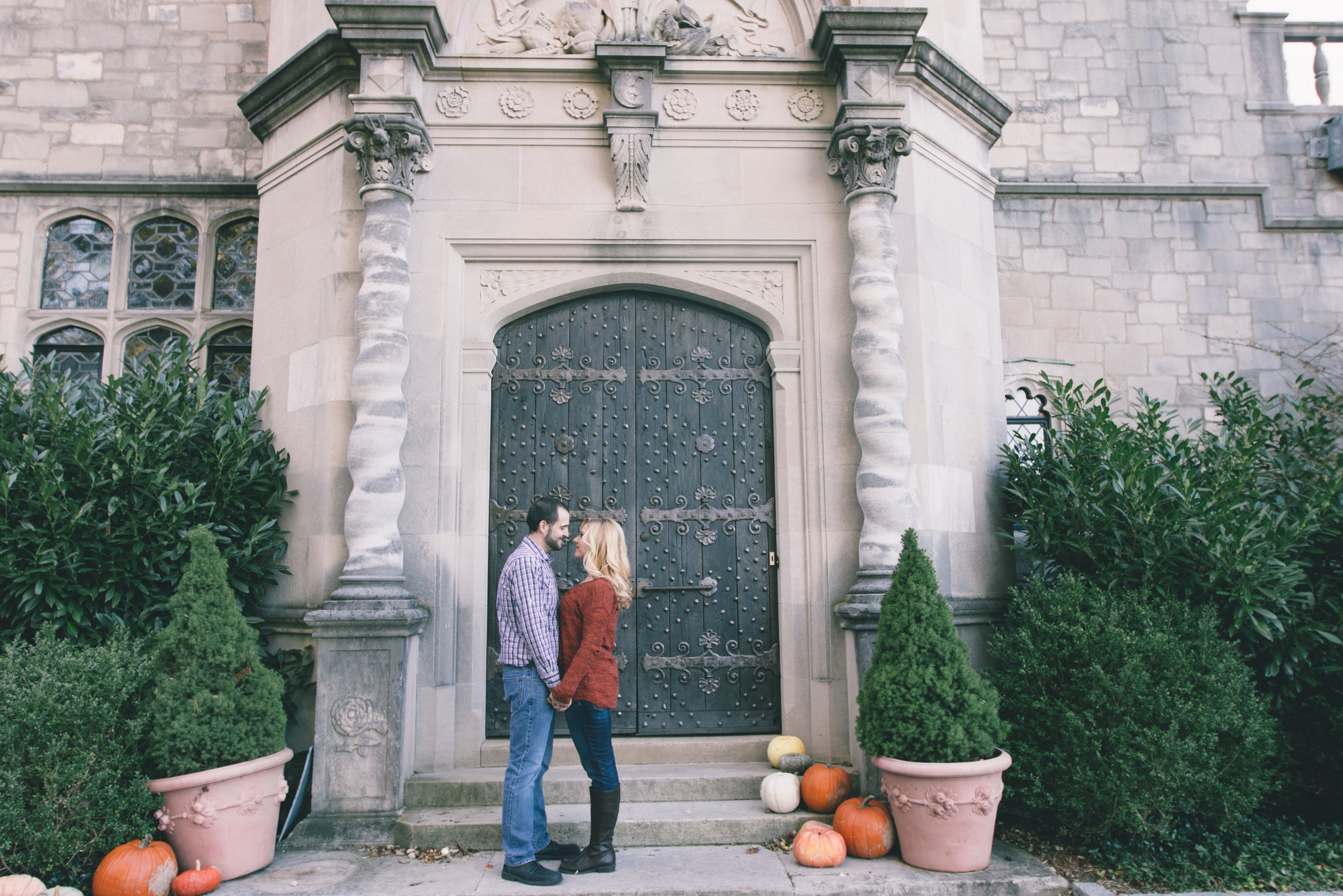vintage castle rustic new York engagement photography