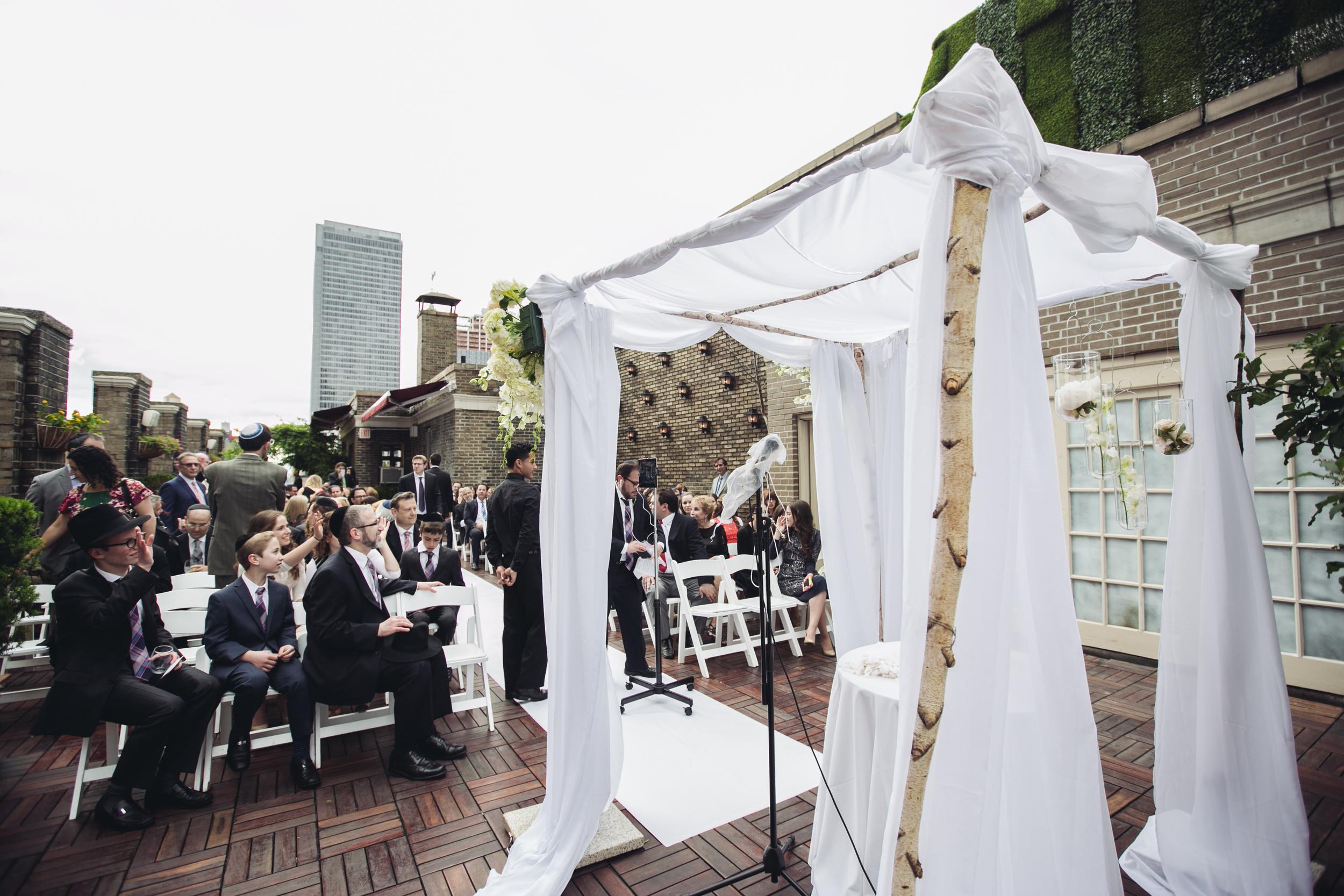 midtown loft and terrace wedding ceremony