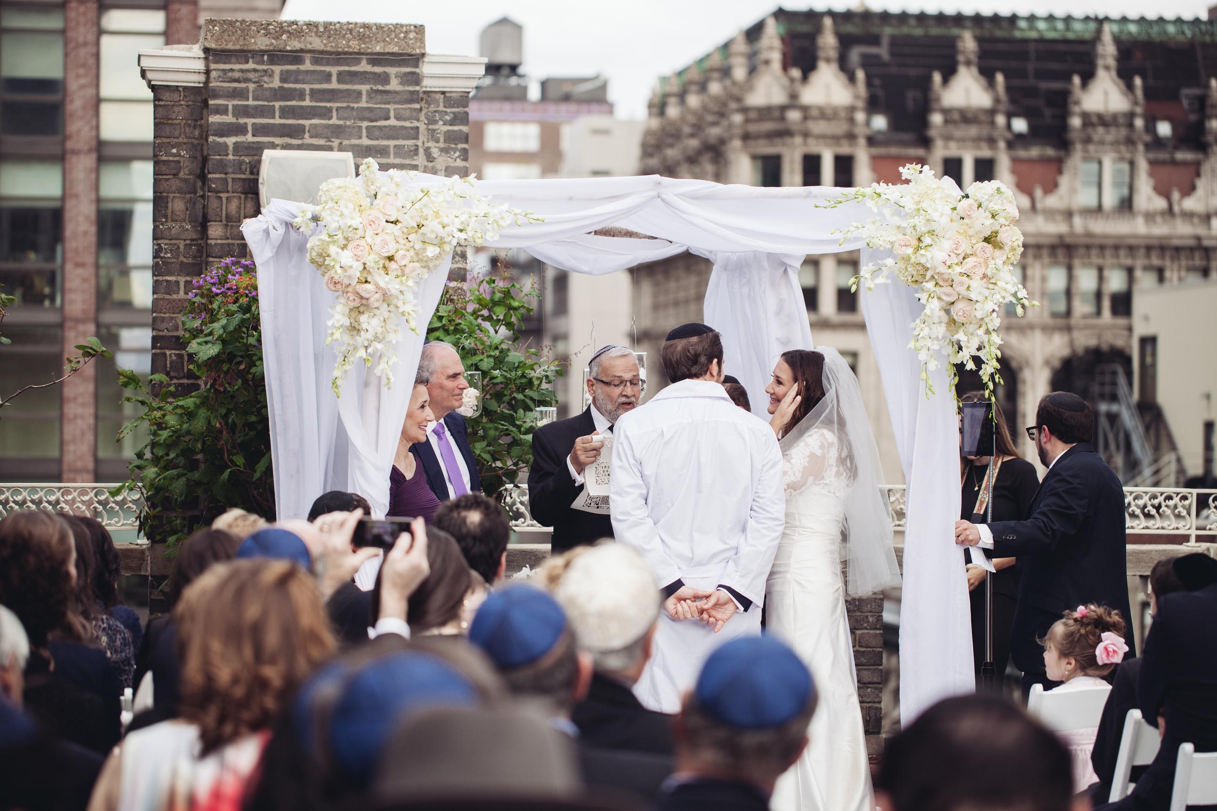 midtown loft and terrace jewish ceremony