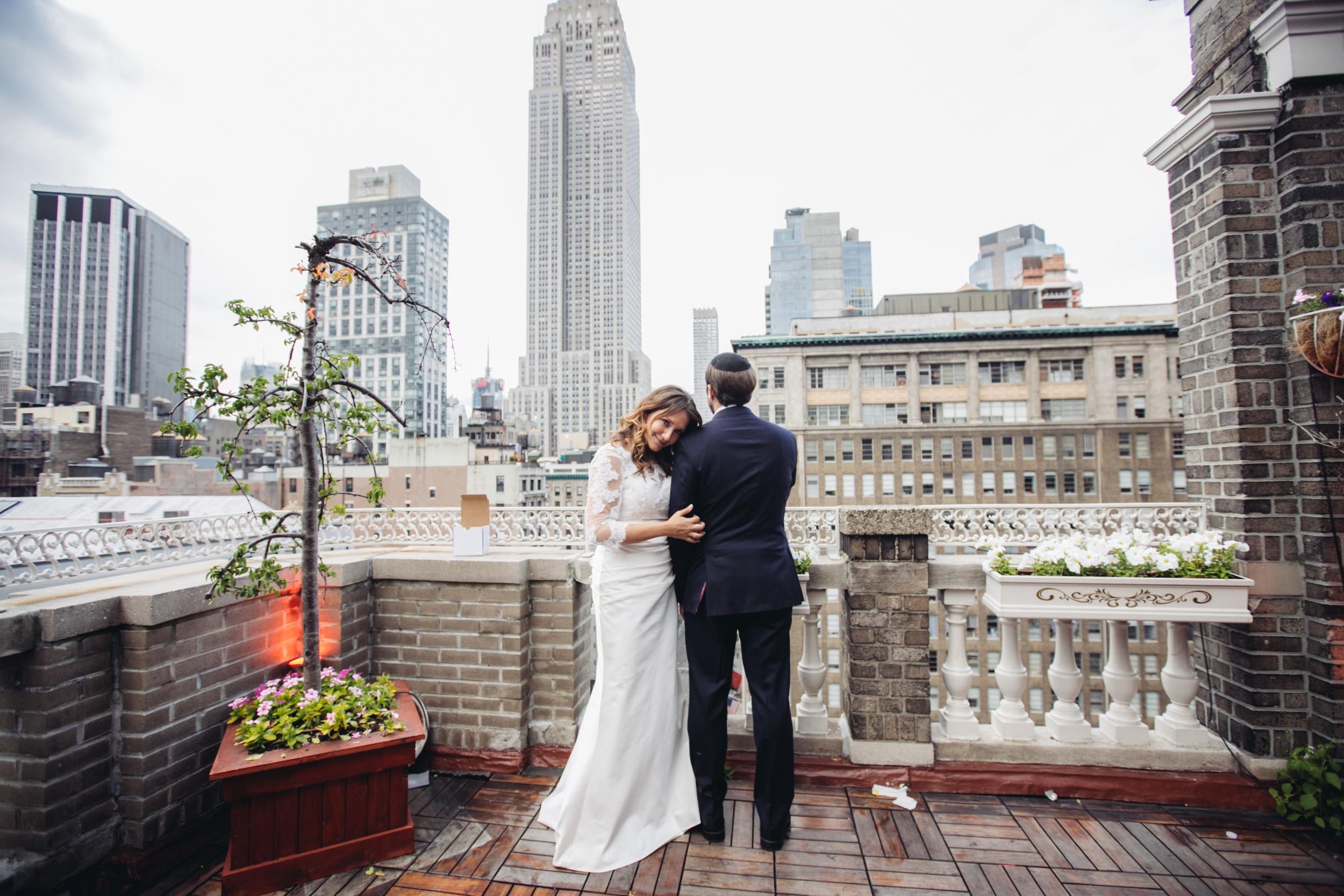 wedding portrait midtown loft and terrace