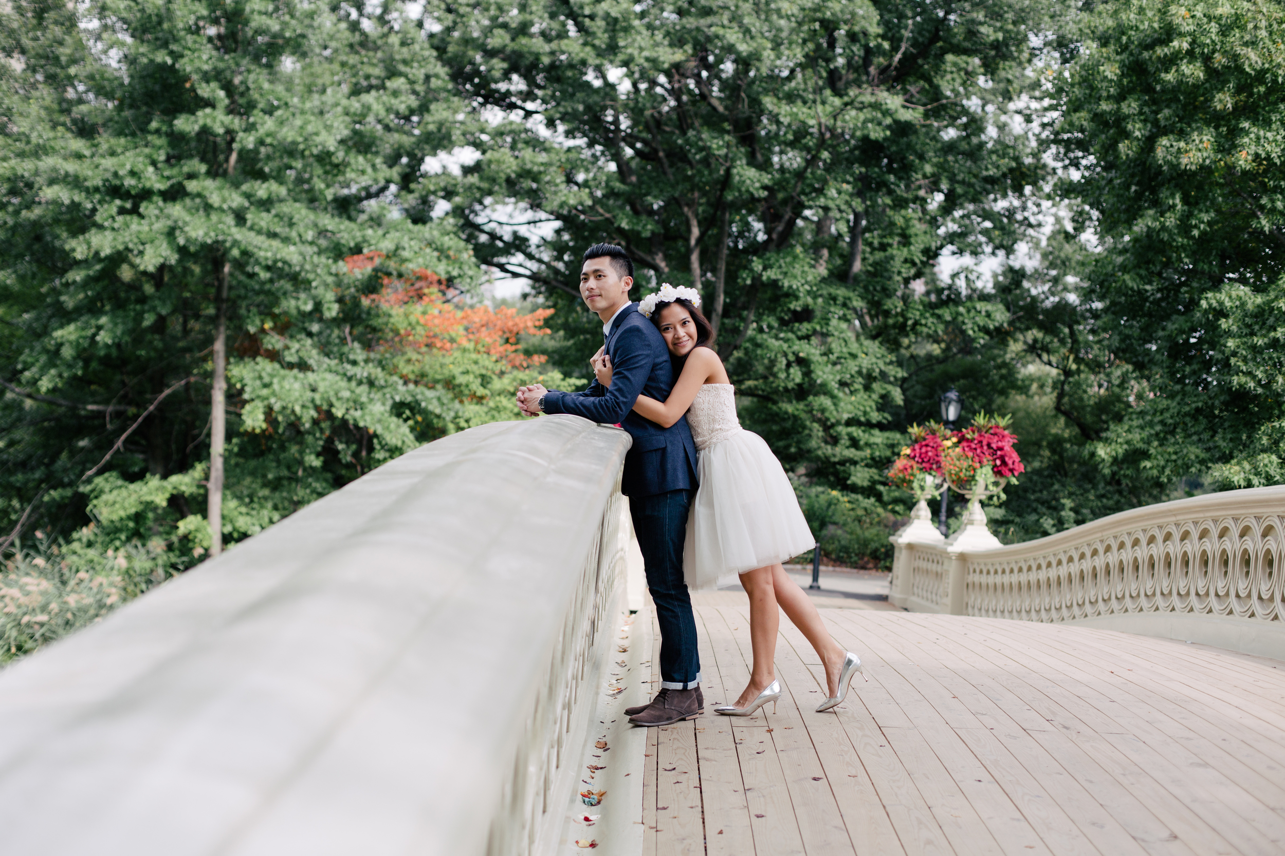summer engagement session in central park