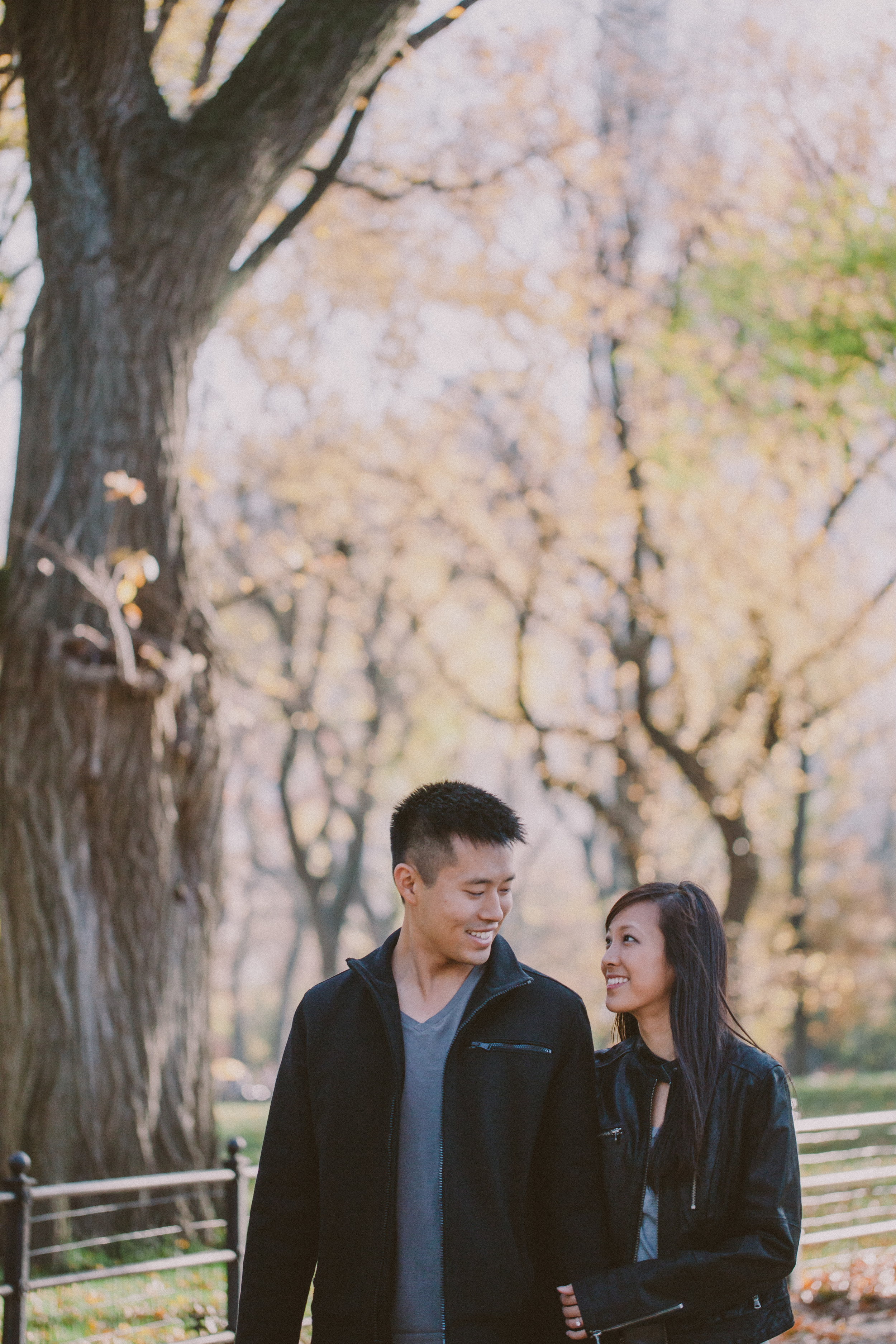 autumn engagement session central park