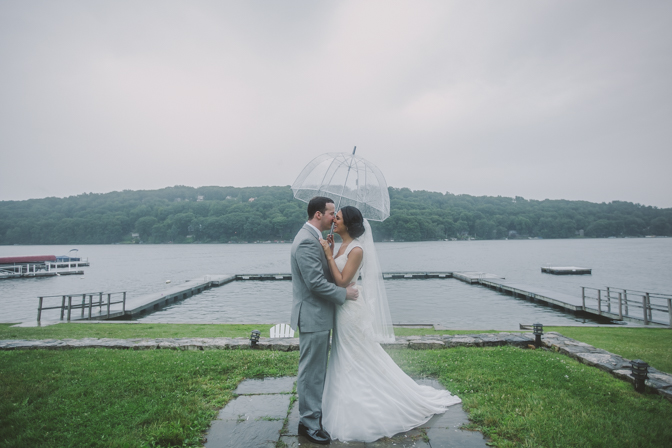rainy day wedding celebration in Connecticut