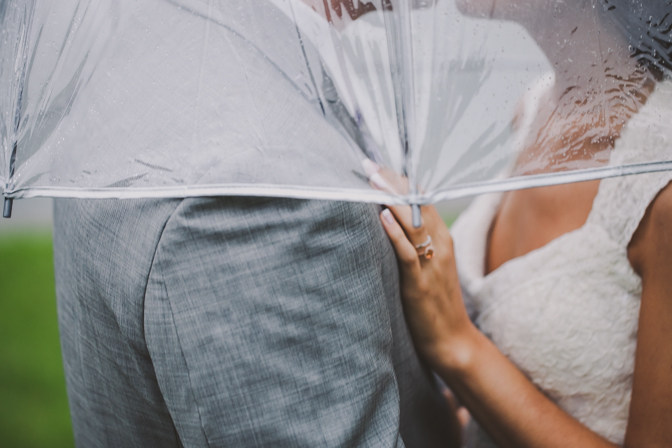 unique wedding photography in the rain