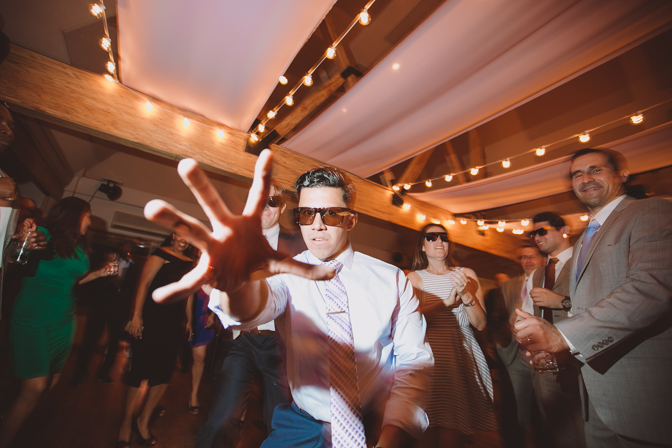 fun dancing wedding shot processed by vsco