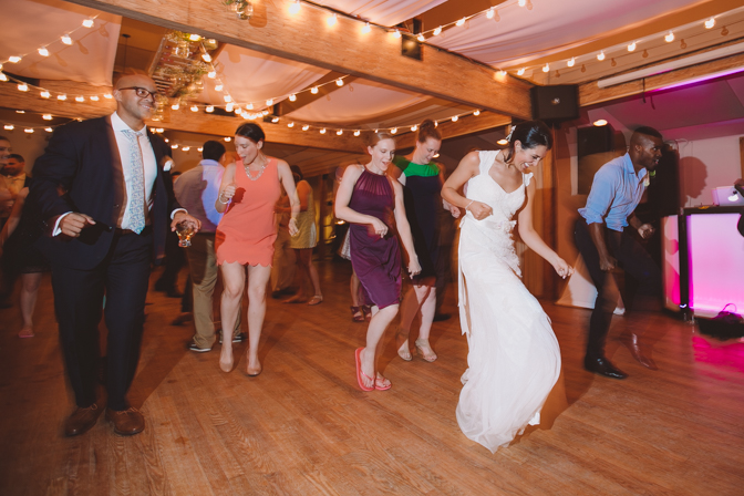 cha cha slide at wedding thanks to a fun DJ