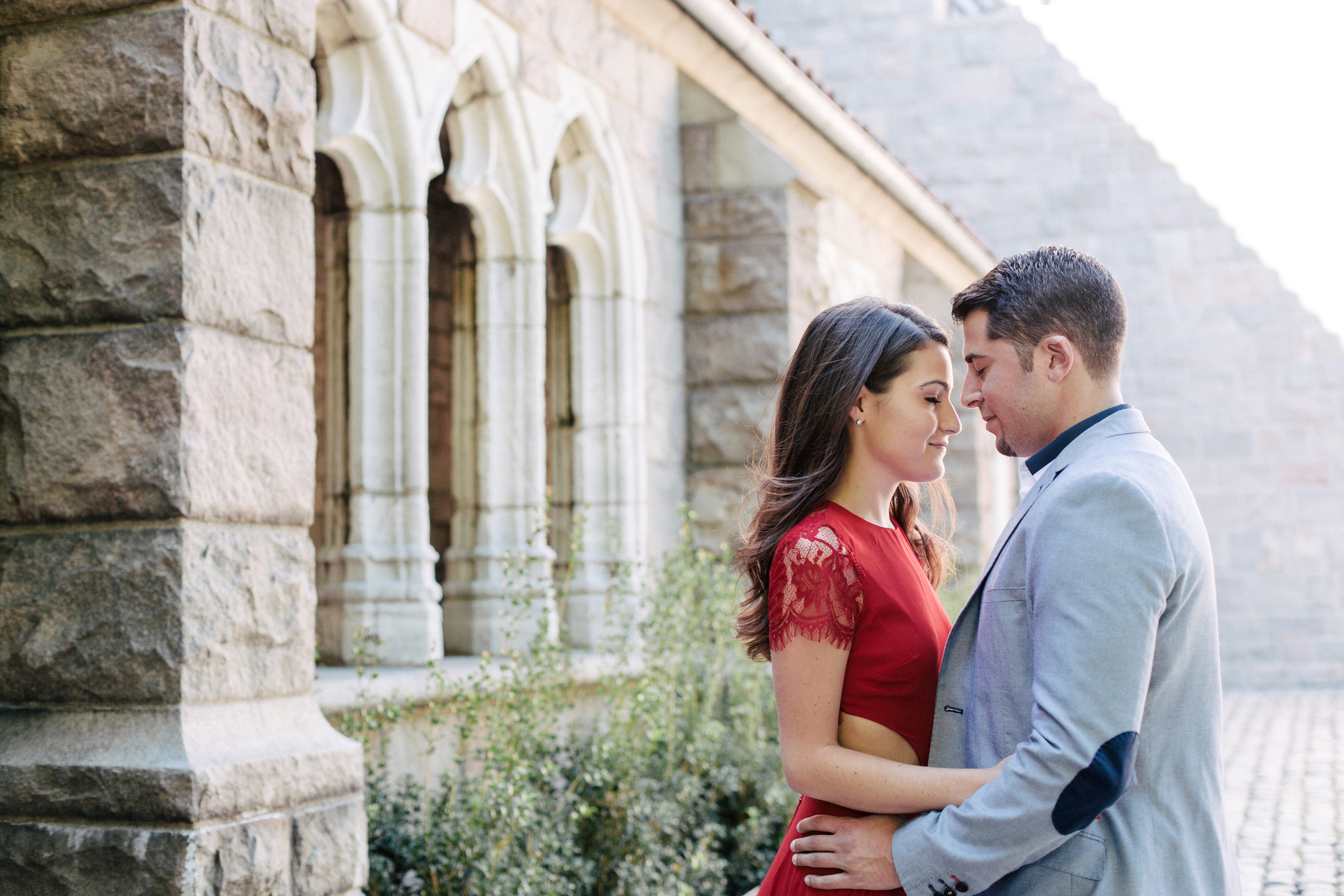 nyc cloisters engagement photography
