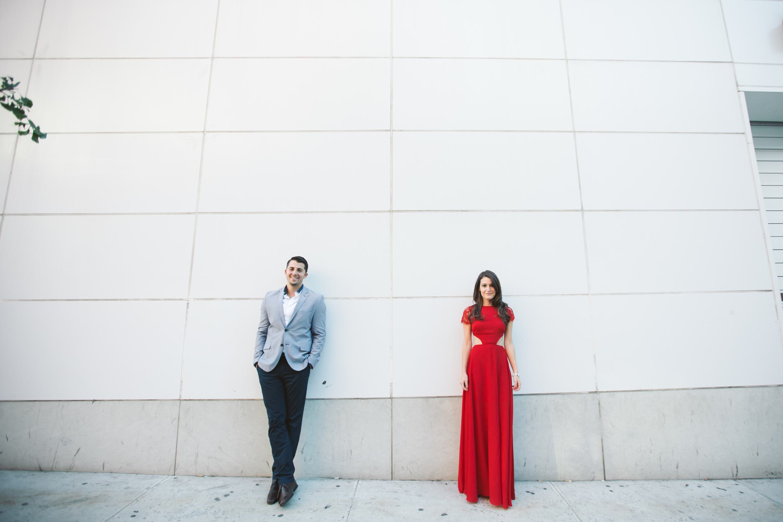 midtown outdoor engagement photography