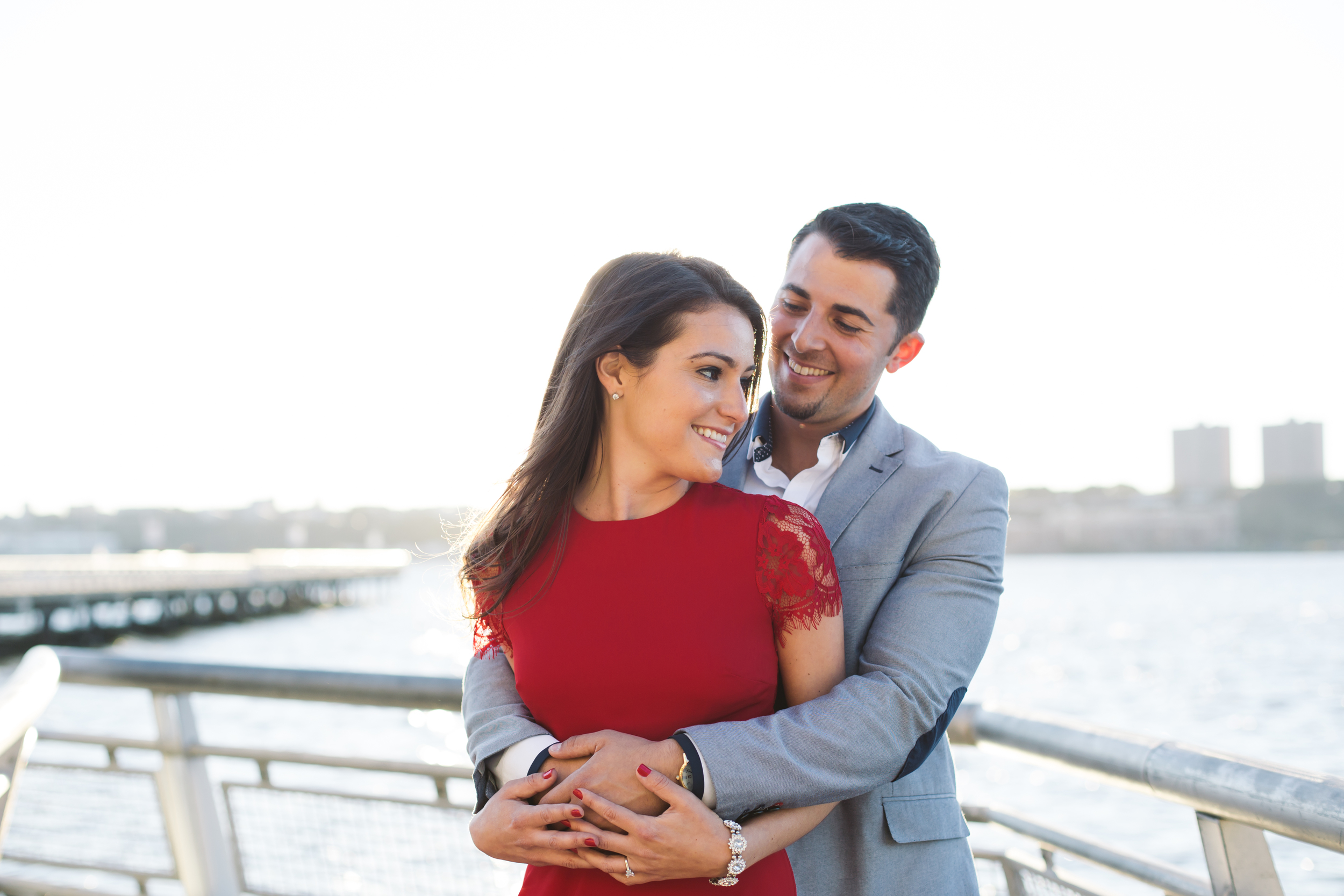 Hudson river engagement photography