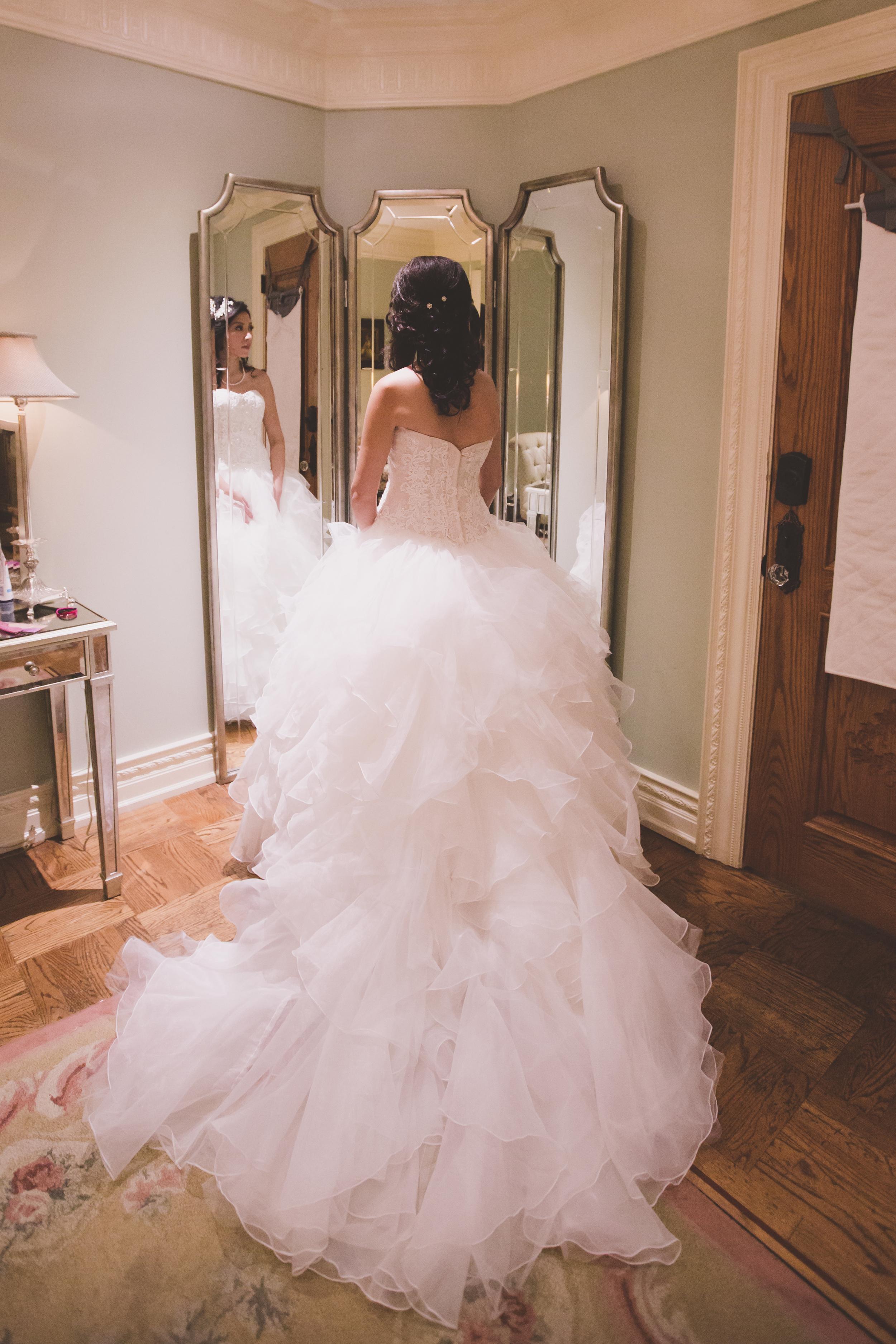 cupcake princess wedding dress getting ready