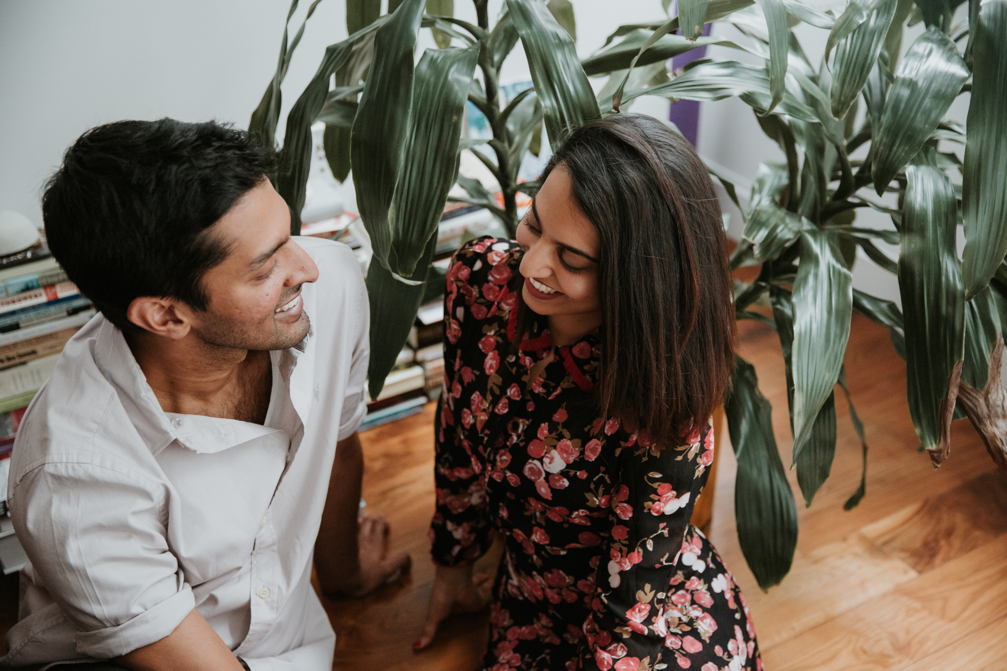 in home engagement shoot nyc