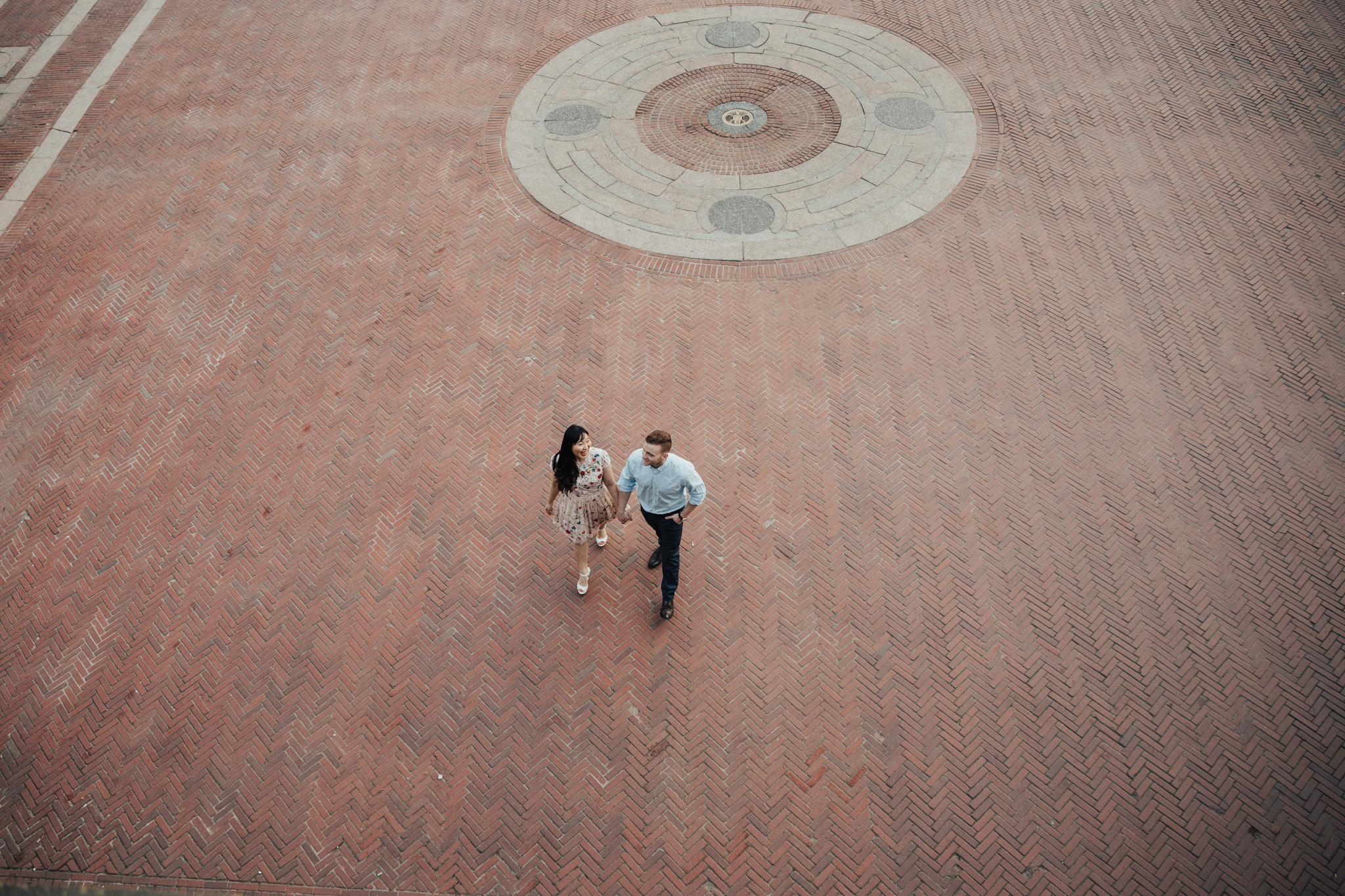 cool angle couple walking
