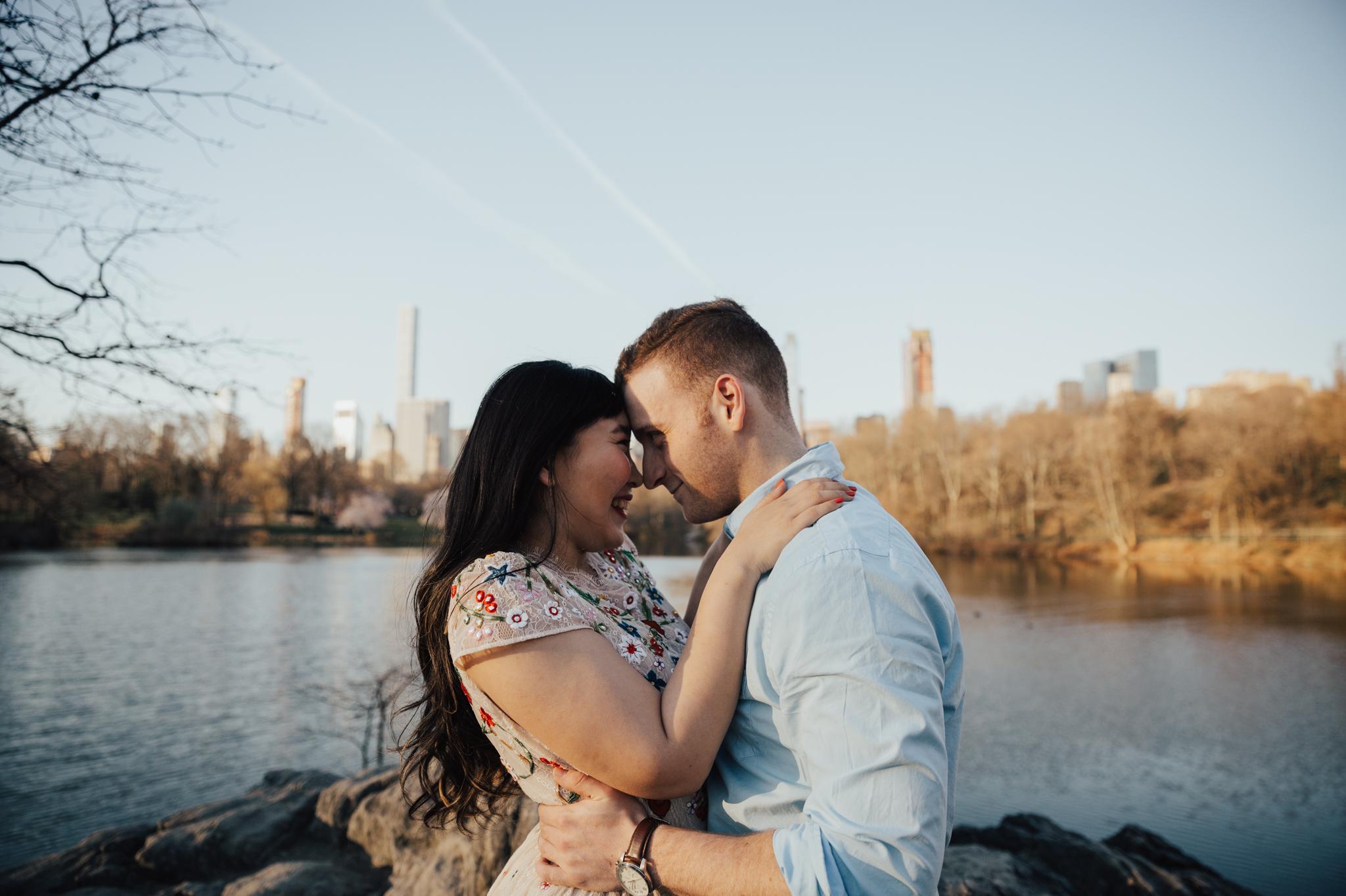 photojournalistic central park engagement