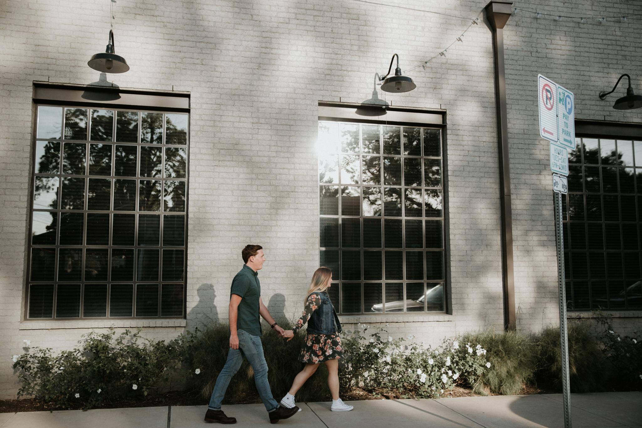 couple walking in austin texas