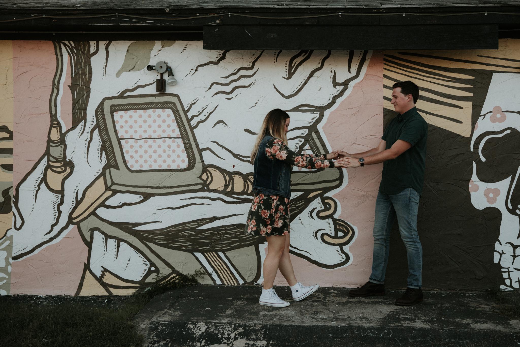 urban graffiti engagement shoot austin