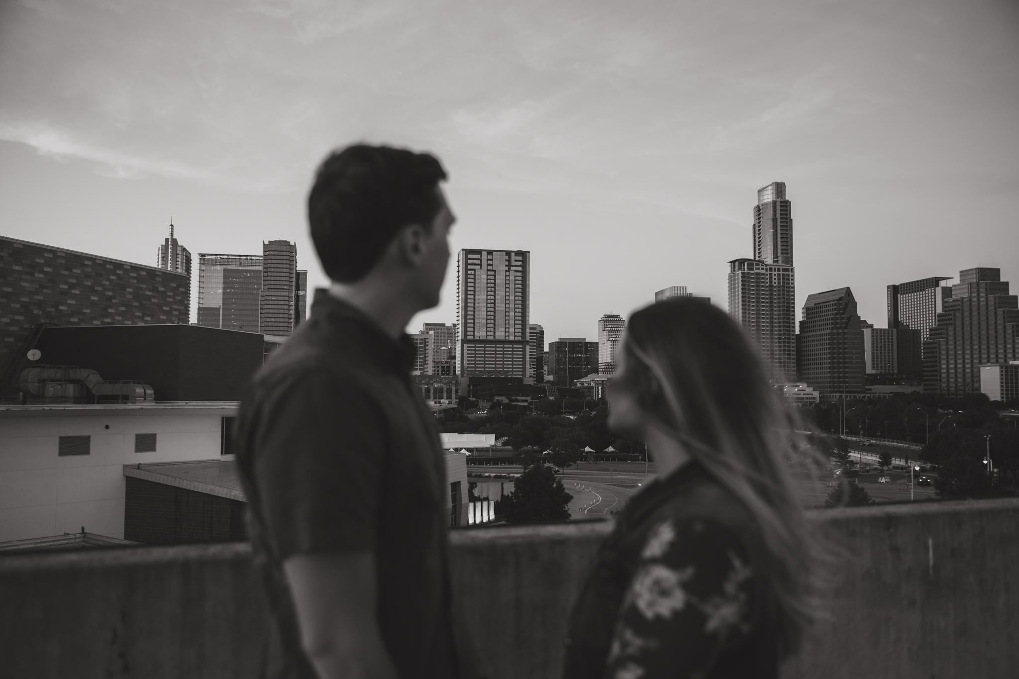 austin urban engagement shoot