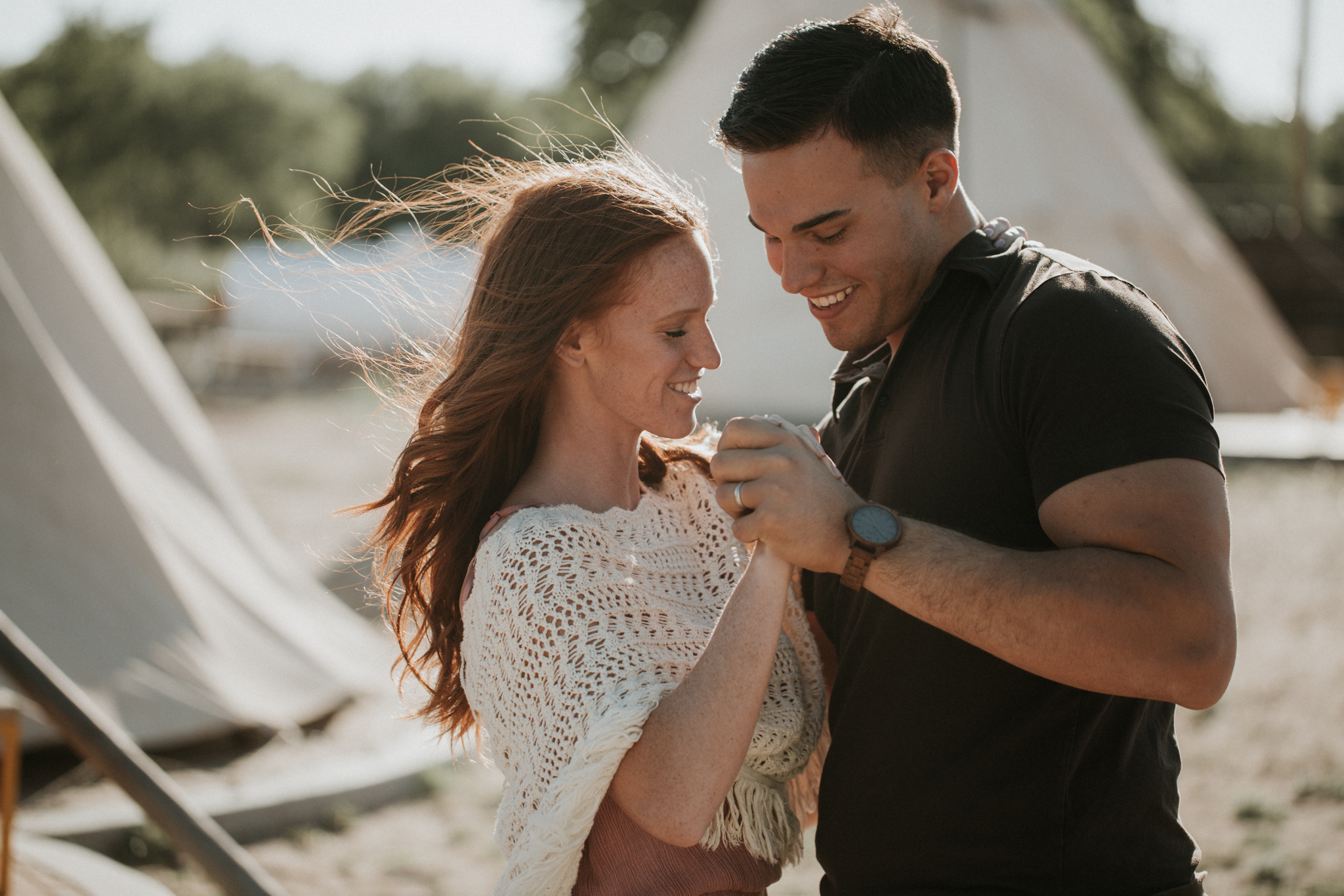 teepee engagement shoot