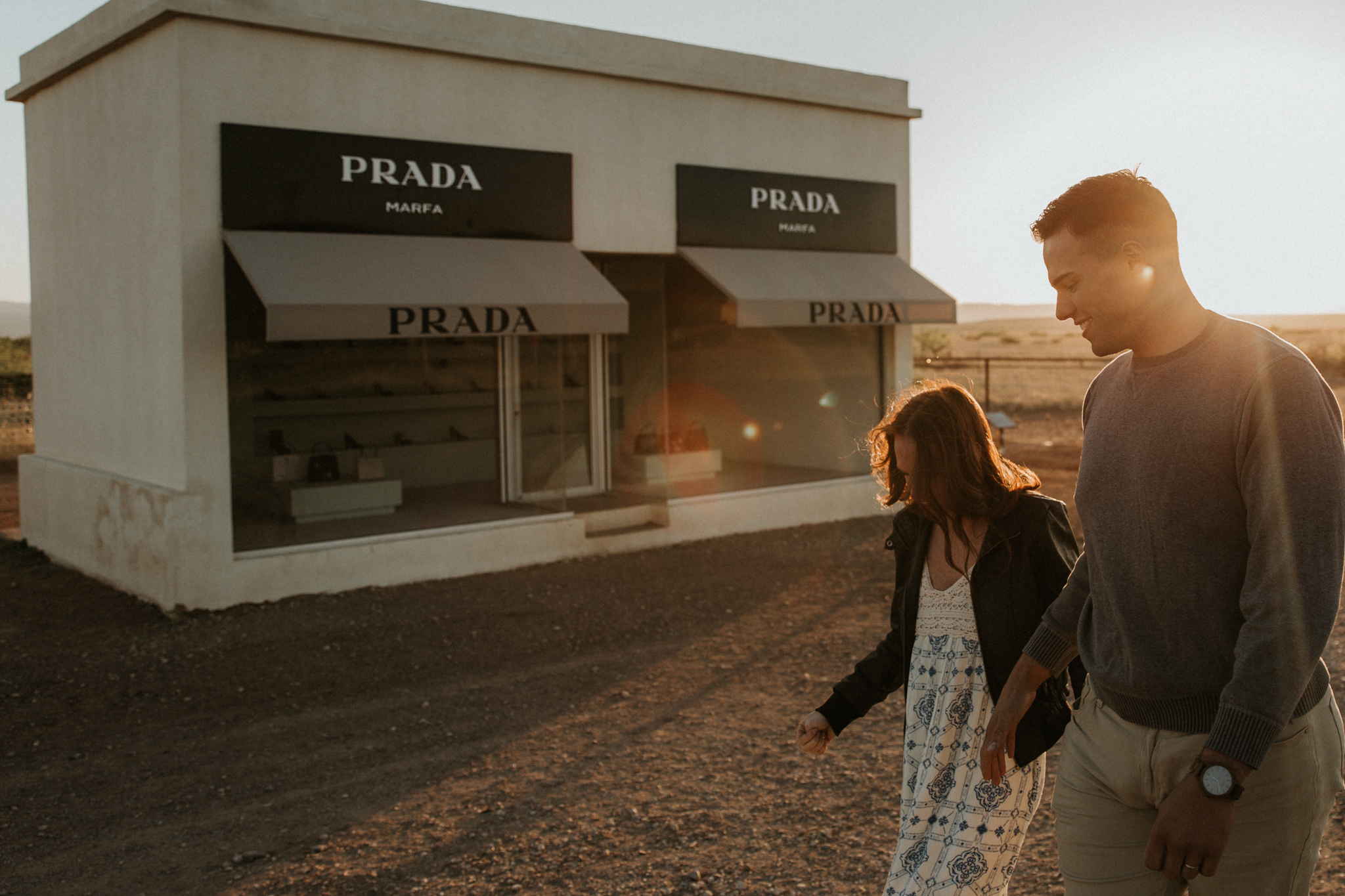 prada marfa couples photoshoot