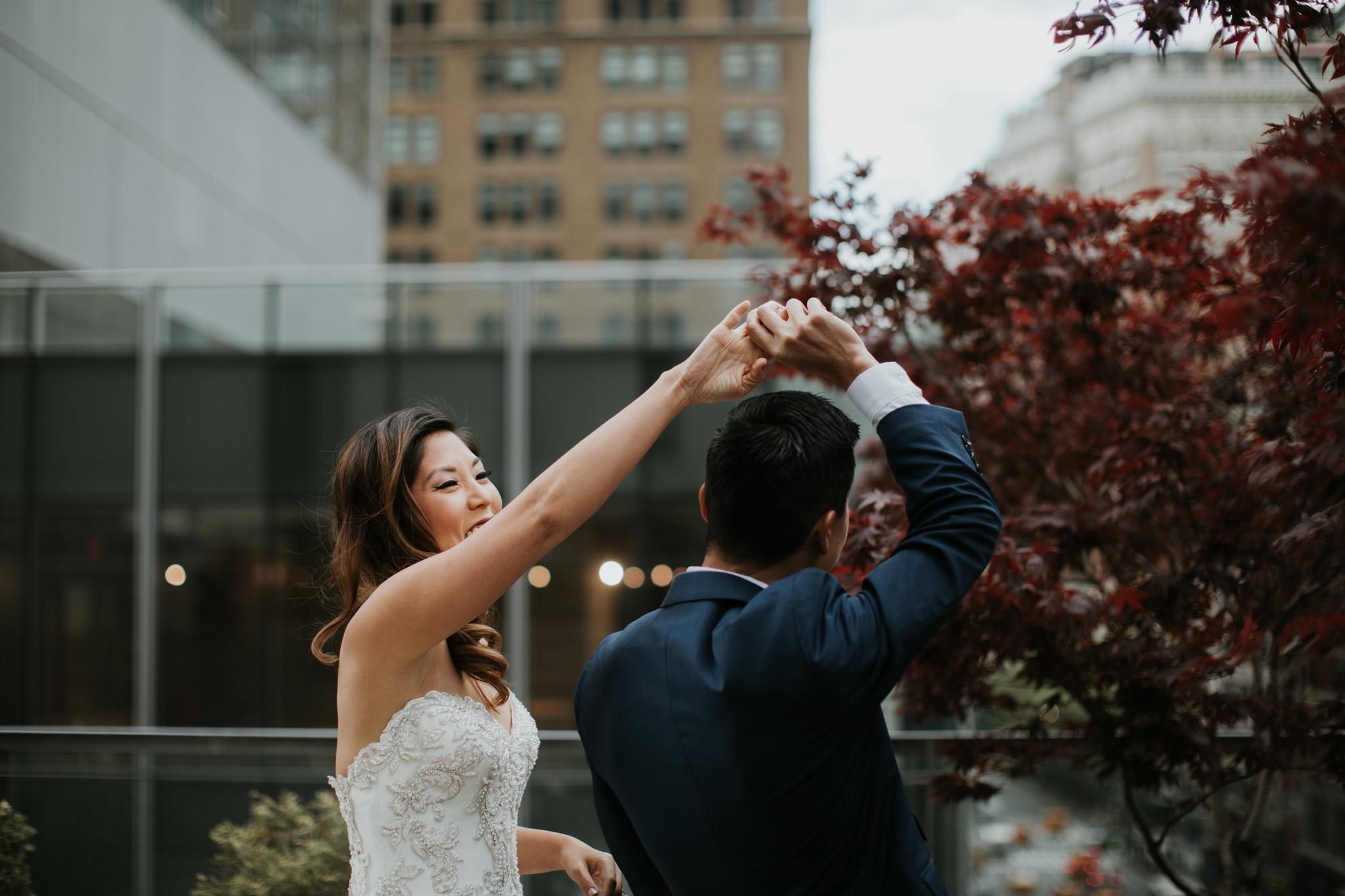 bride and groom fun creative new york