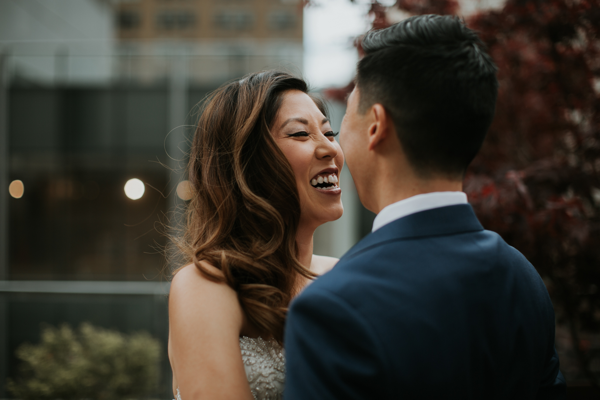 bride and groom nyc intimate moment