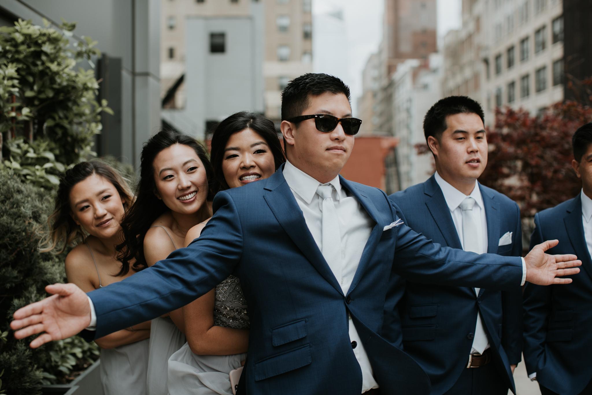 fun bridal party photography nyc