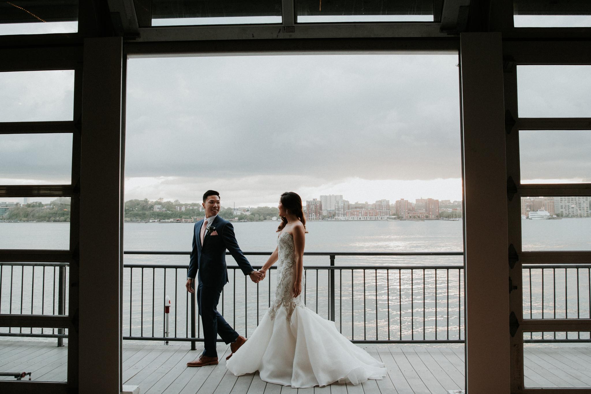 sunset terrace wedding photography