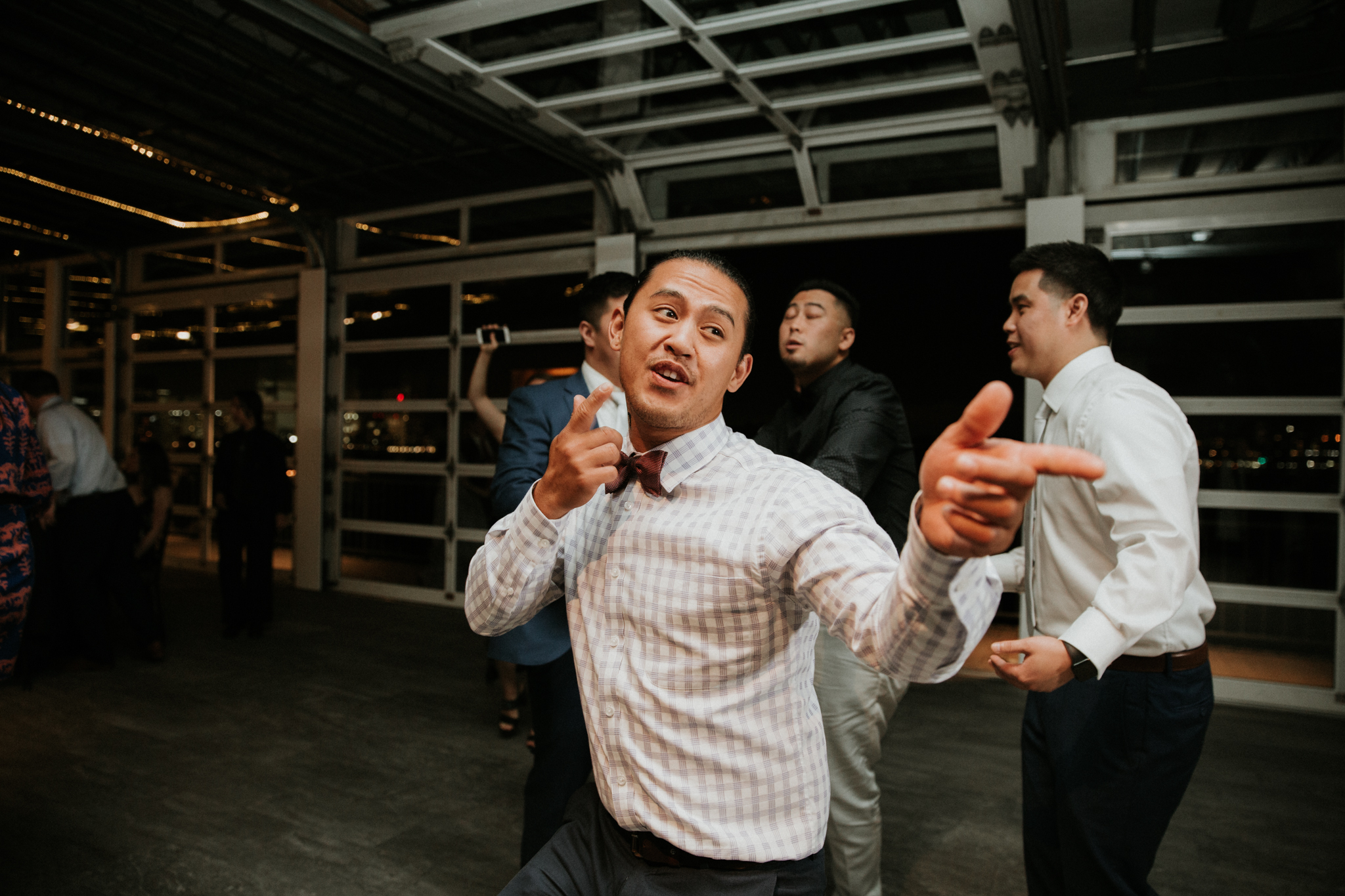 guest dancing wedding photo