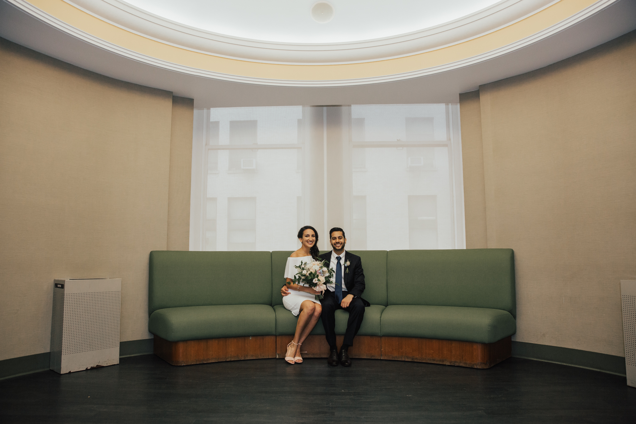 chic city hall elopement